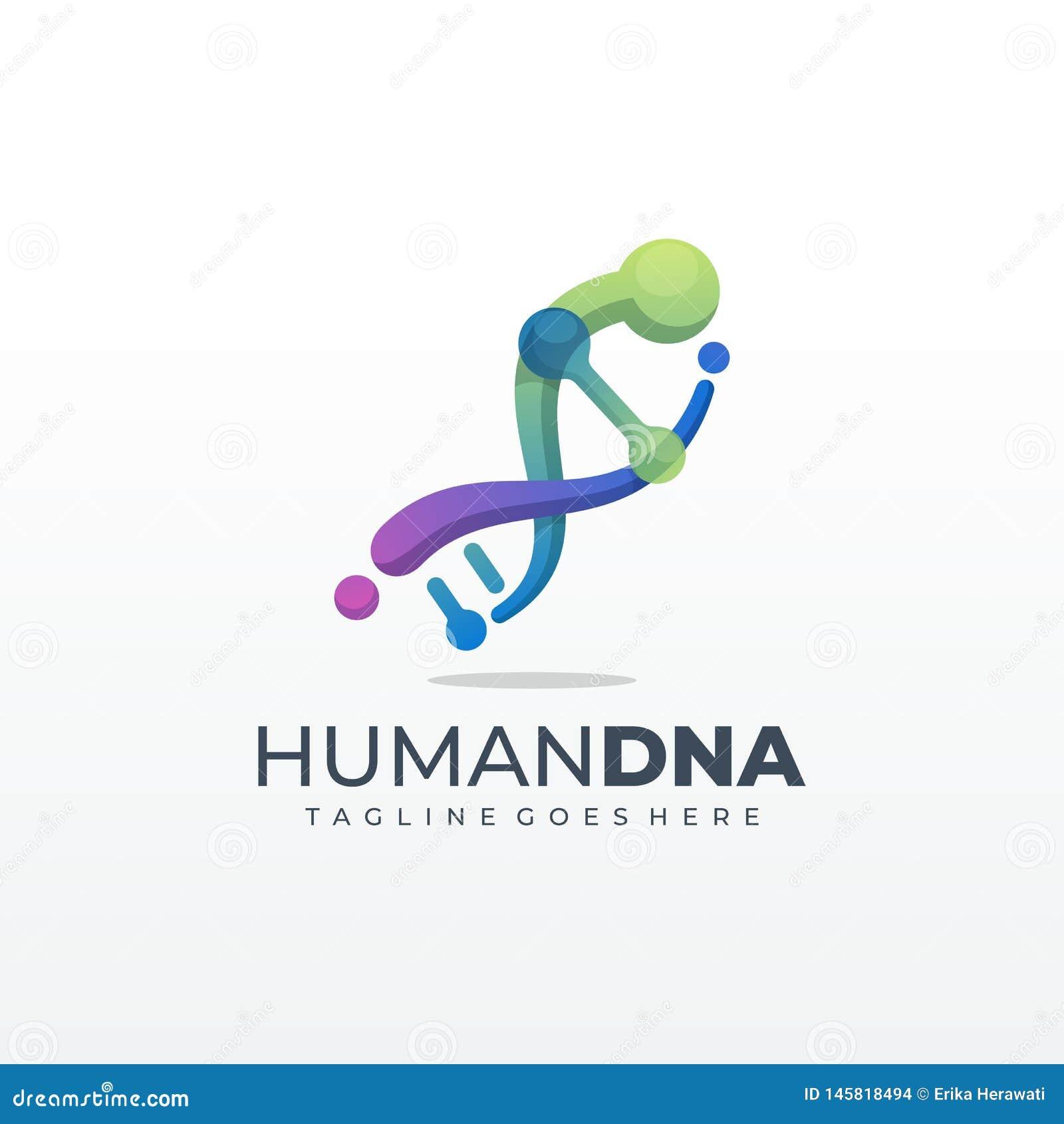 Γενετικό σύμβολο DNA που τρέχει και πρότυπο εικονιδίων ατόμων άλματος