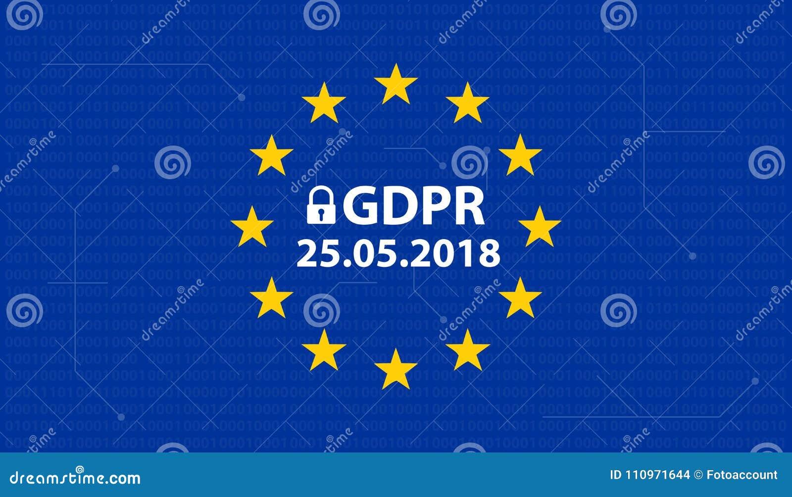 Γενική γερμανική μεταλλαγή κανονισμού GDPR προστασίας δεδομένων: Datenschutzverordnung DSGVO