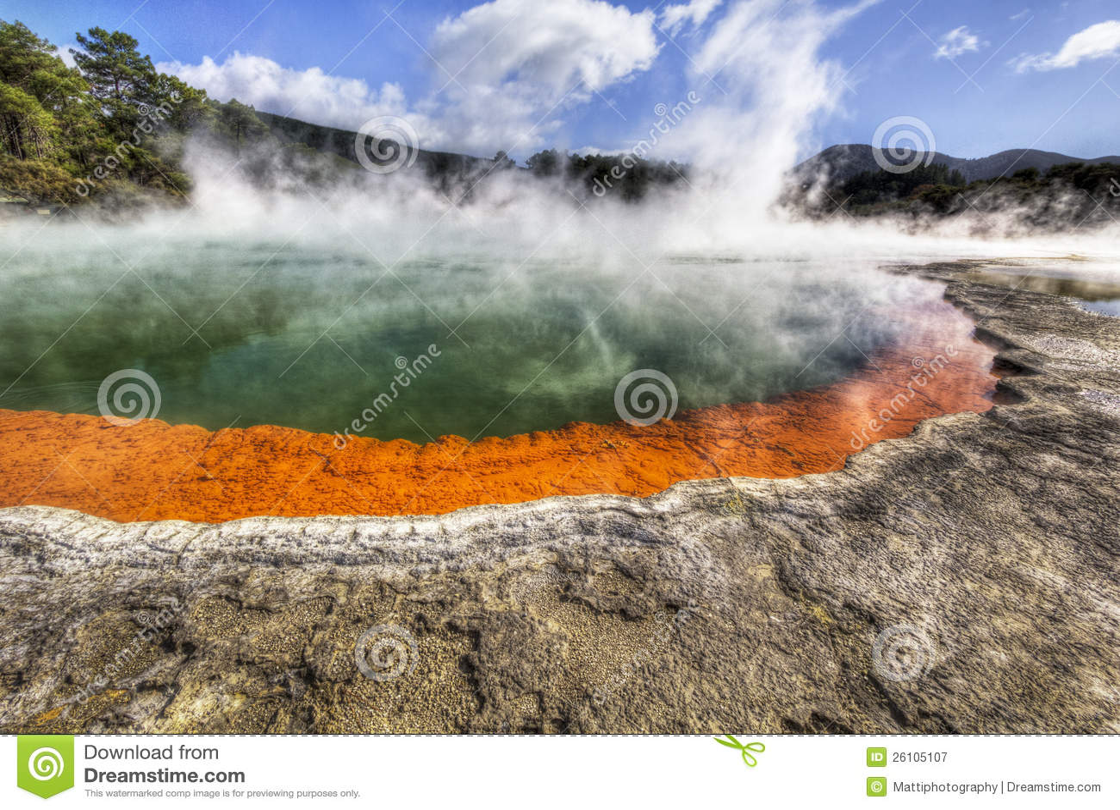 Γεωθερμική λίμνη CHAMPAGNE στη Νέα Ζηλανδία