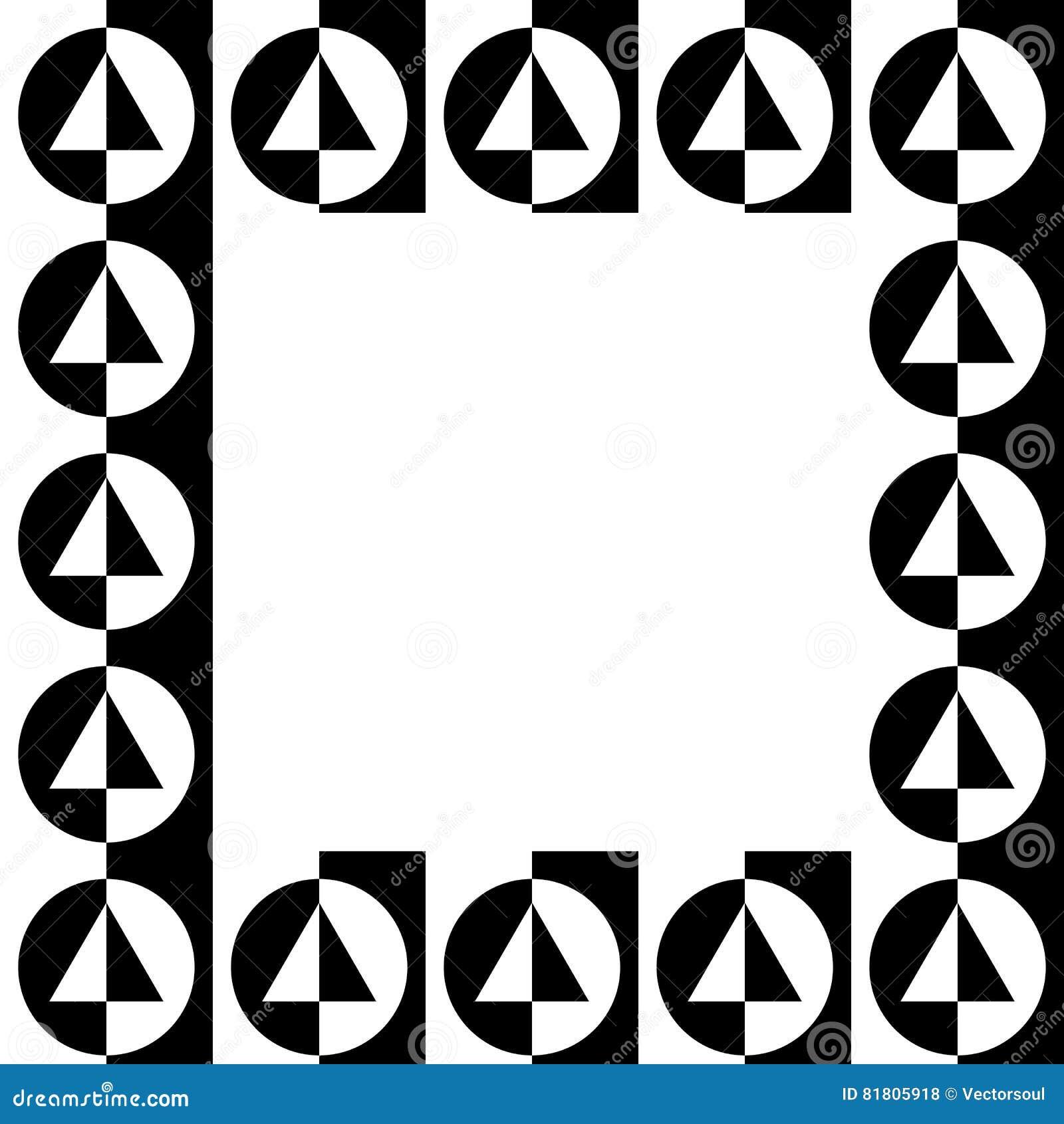 Γεωμετρική εικόνα, πλαίσιο φωτογραφιών με το σχήμα squarish
