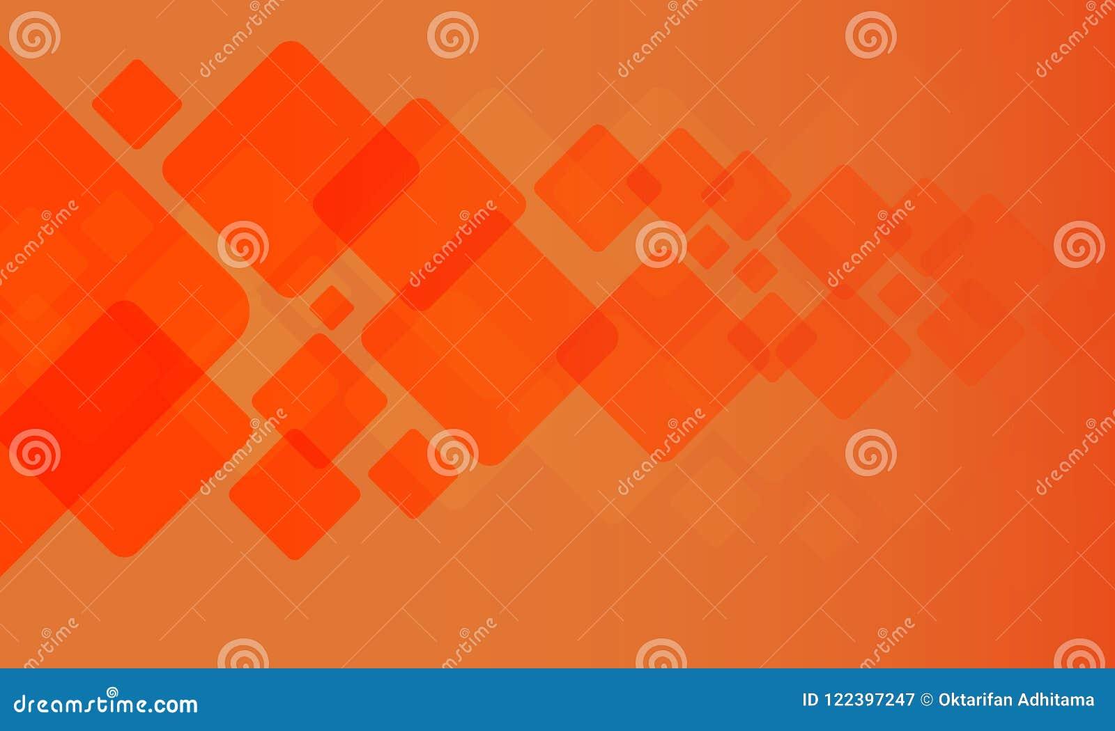 Γεωμετρική σύσταση με το πορτοκαλί υπόβαθρο