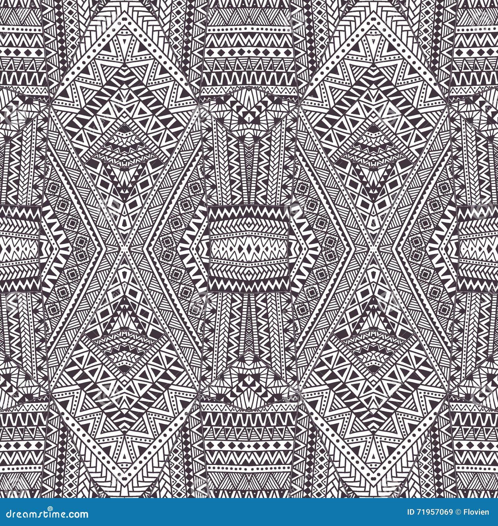 γεωμετρικό πρότυπο άνευ ραφής γκρίζο λευκό διακοσμήσ&eps Διανυσματικό illu