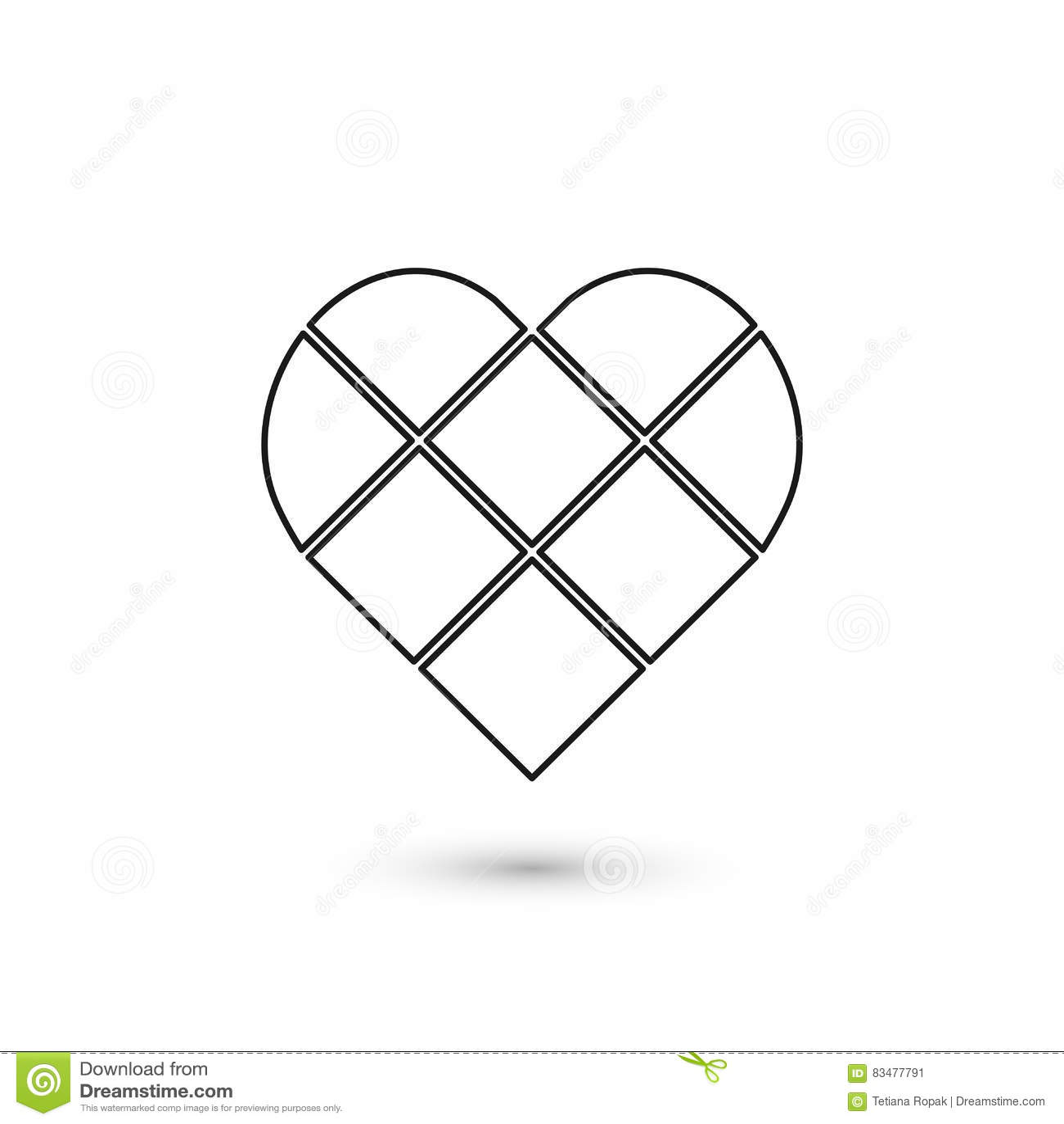 Γεωμετρικό σημάδι καρδιών Γραφικό σχέδιο μόδας επίσης corel σύρετε το διάνυσμα απεικόνισης Σχέδιο ανασκόπησης Οπτική παραίσθηση τ