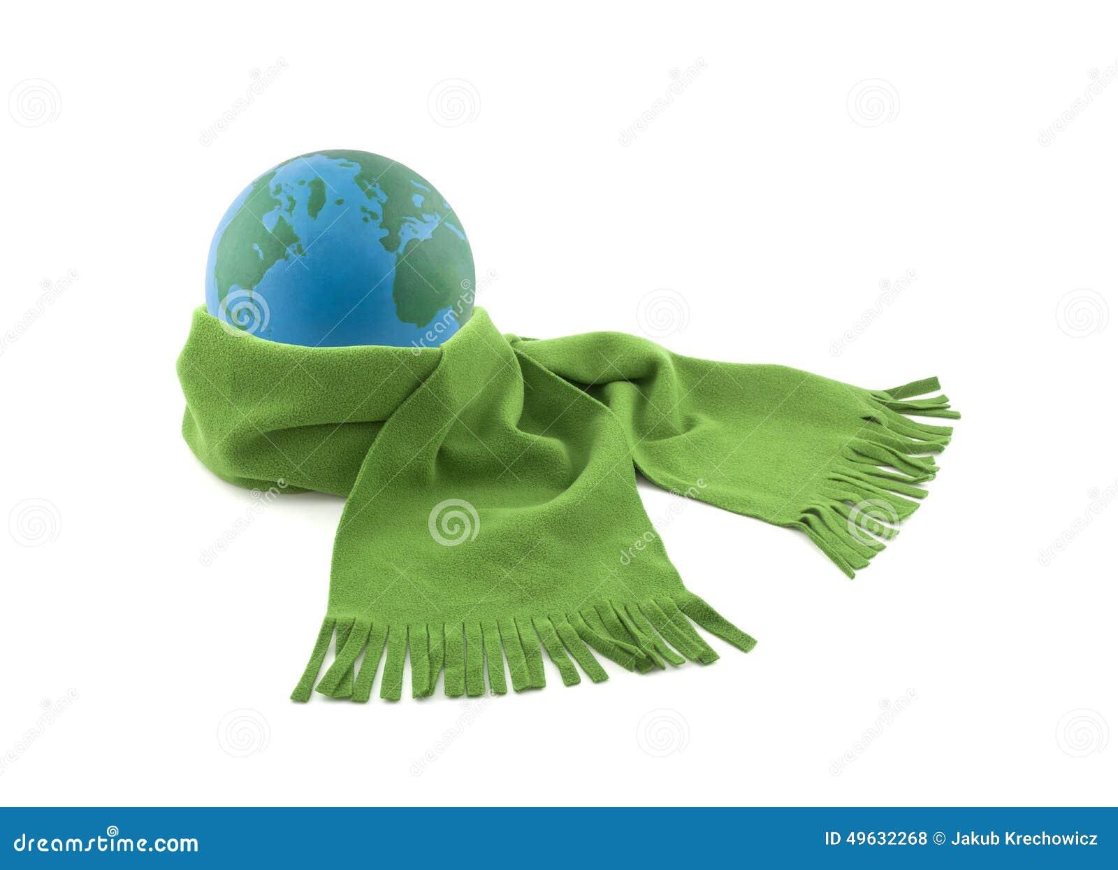 Γη που τυλίγεται σε ένα μαντίλι