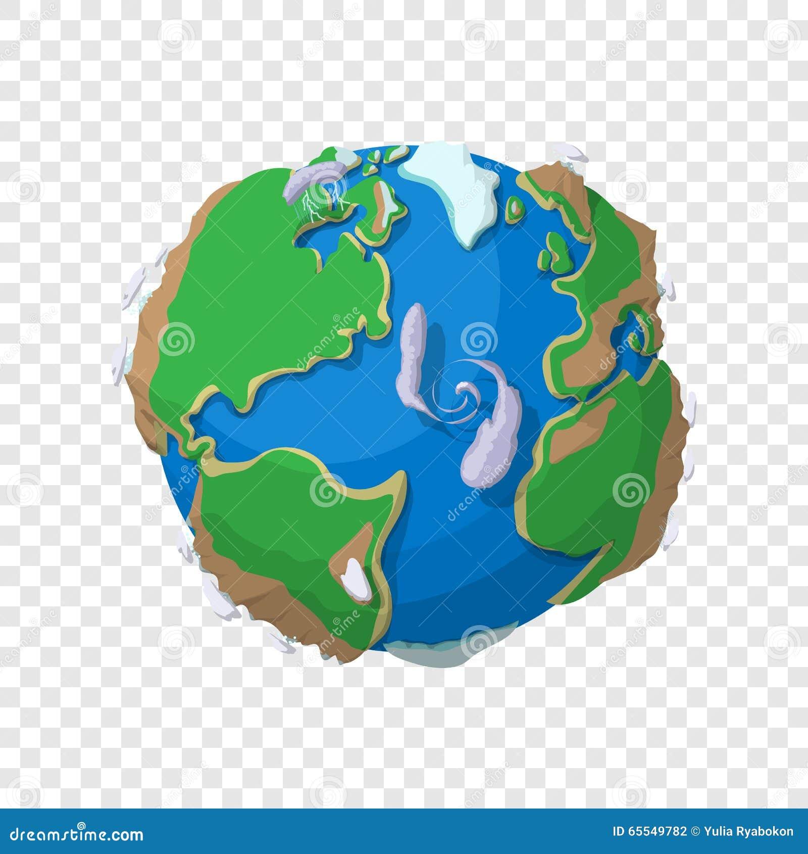 Γη στο ύφος κινούμενων σχεδίων
