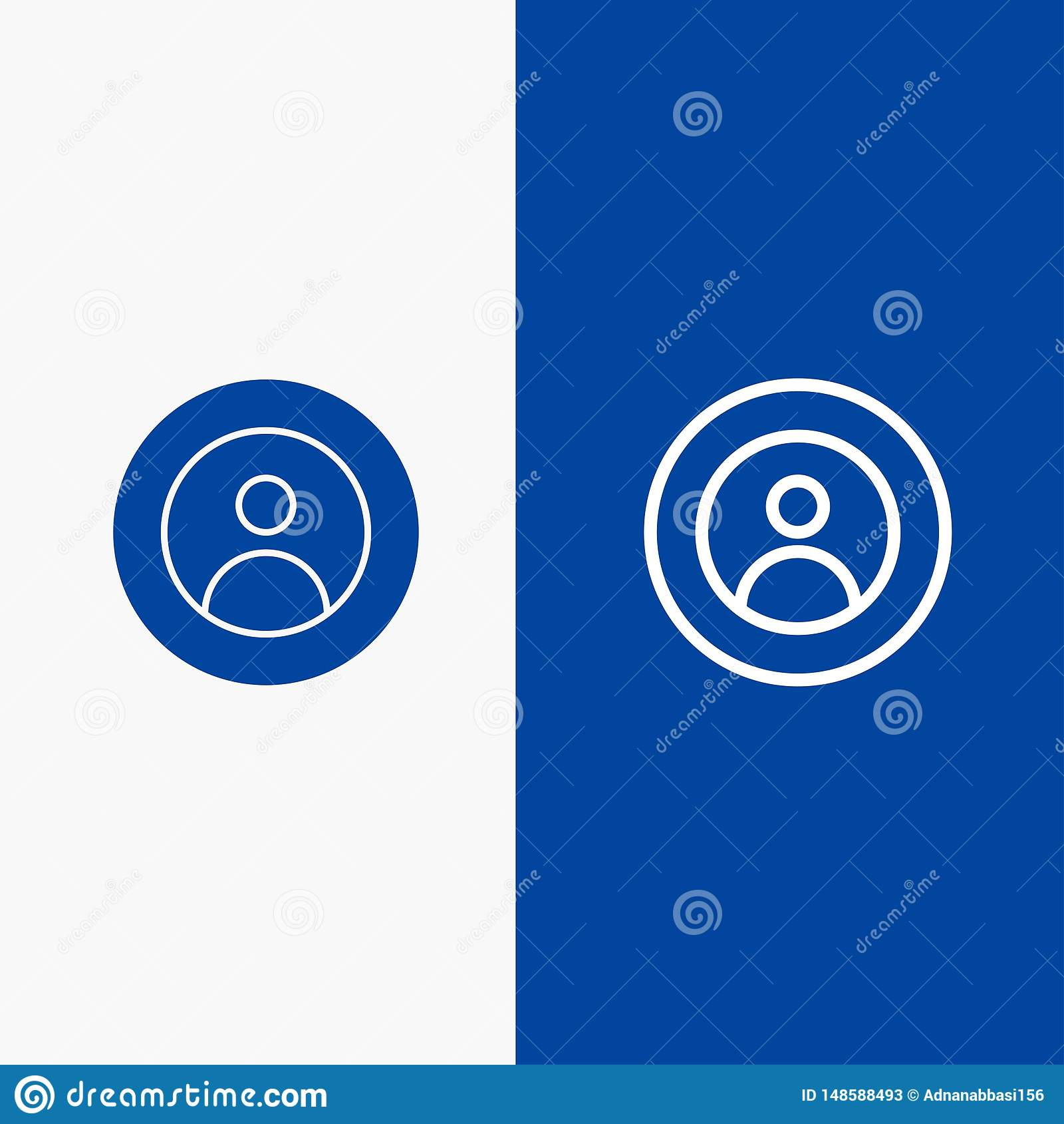 Γη, σφαιρικός, άνθρωποι, χρήστης, παγκόσμια γραμμή και στερεά γραμμή εμβλημάτων εικονιδίων Glyph μπλε και στερεό μπλε έμβλημα εικ