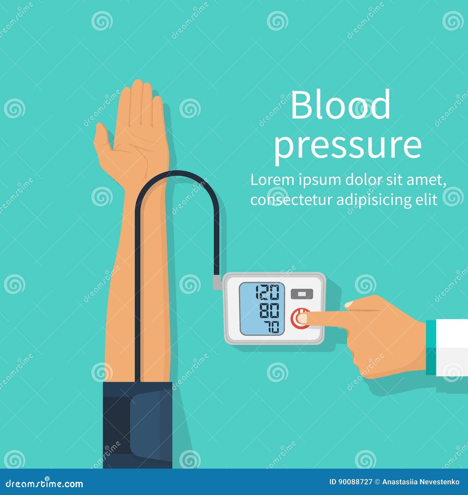 γιατρός αίματος που μετρά την υπομονετική πίεση