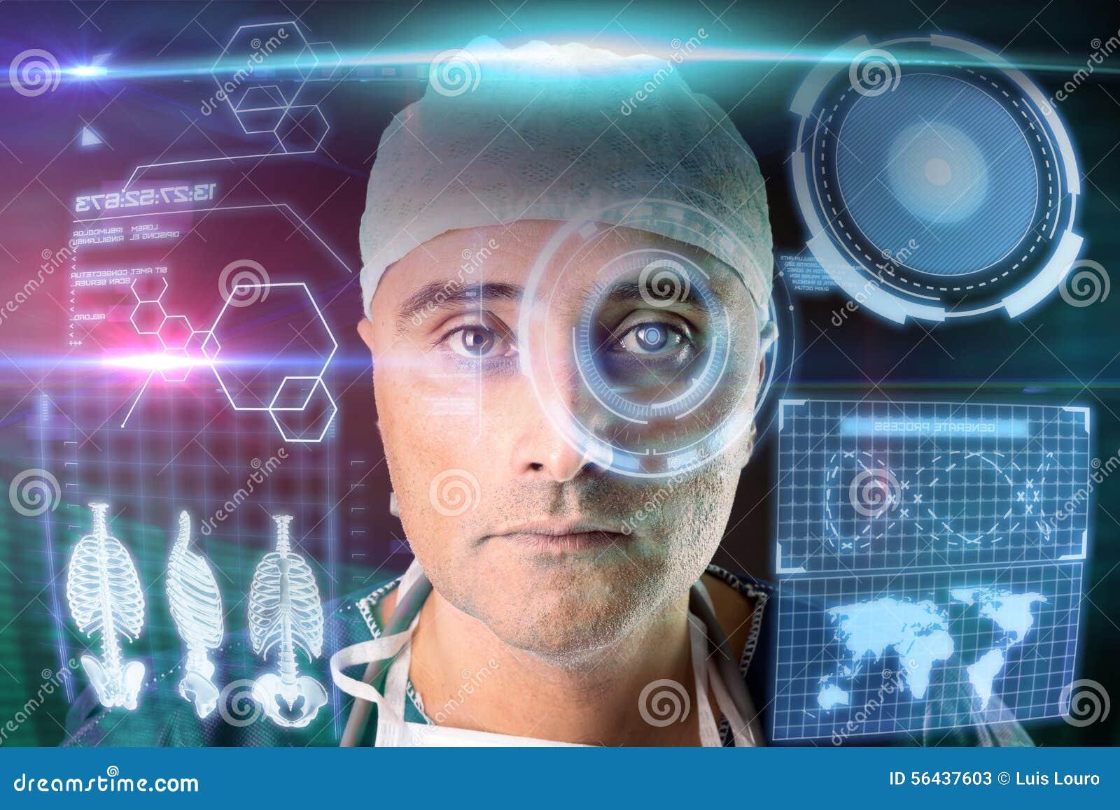 Γιατρός με τις οθόνες