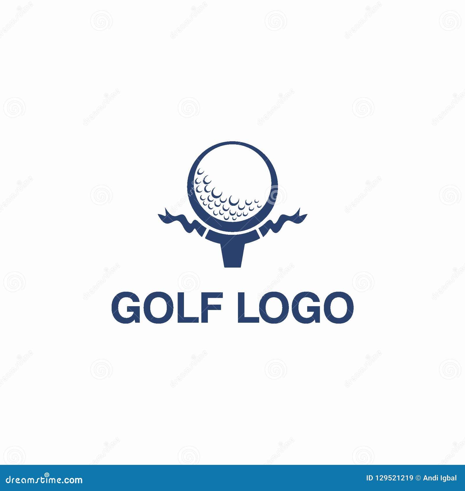 Γκολφ λεσχών ή έννοια σχεδίου αθλητικών λογότυπων