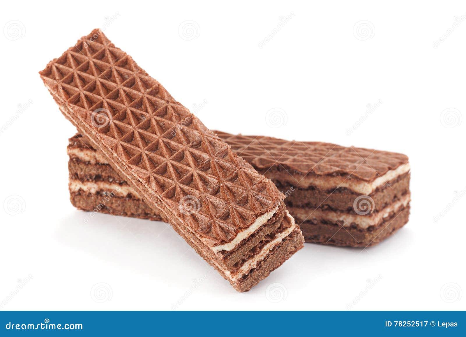 Γκοφρέτες γλυκιάς σοκολάτας