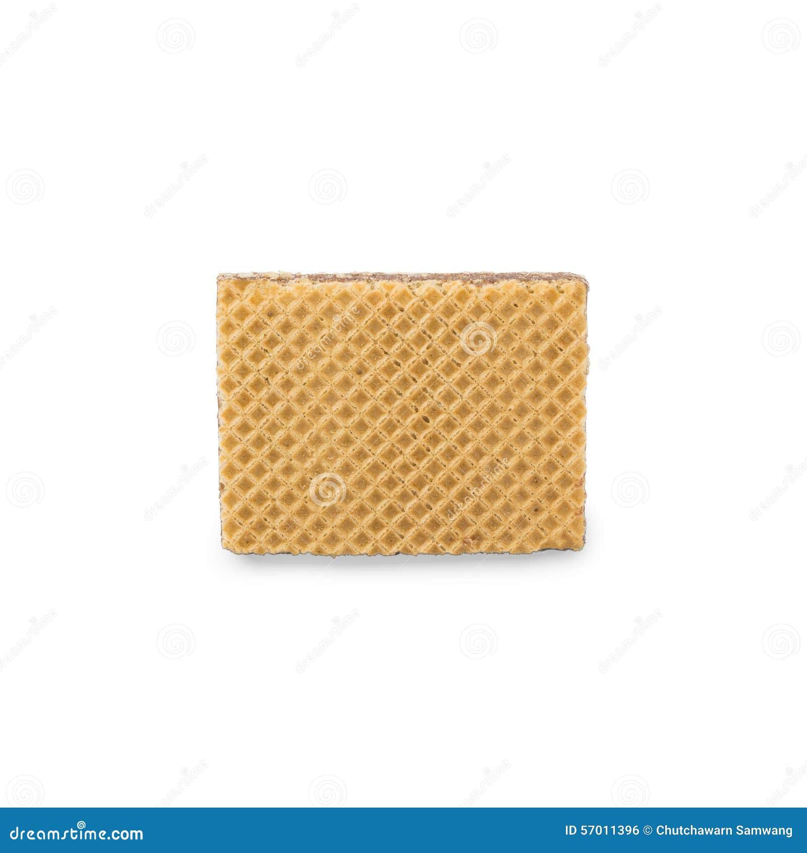 Γκοφρέτες με τη σοκολάτα σε ένα άσπρο υπόβαθρο