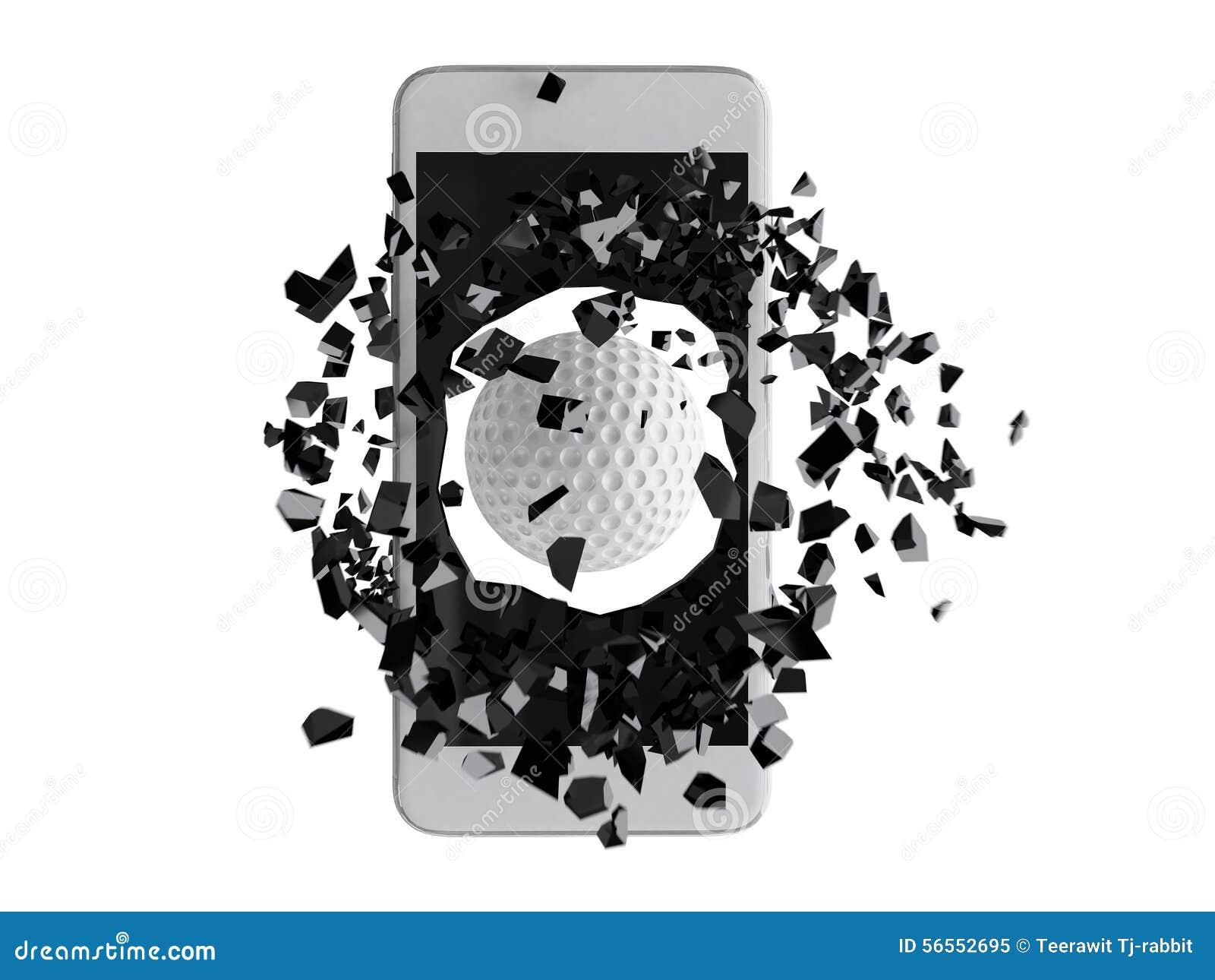 Download Γκολφ που εκρήγνυται από το Smartphone Απεικόνιση αποθεμάτων - εικονογραφία από έξω, κινητός: 56552695
