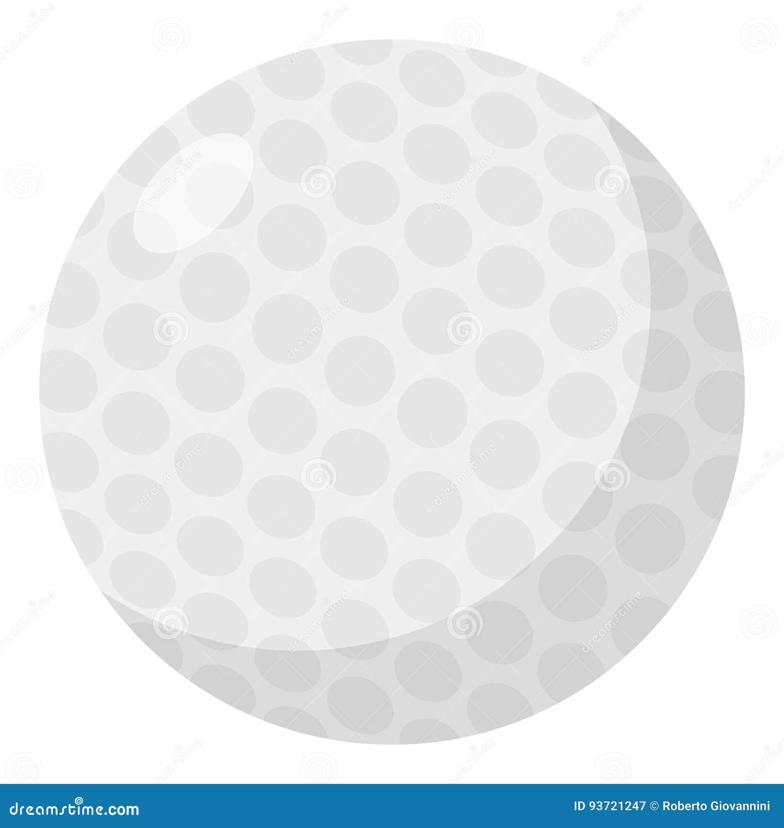 Γκολφ σφαιρών εικονίδιο που απομονώνεται επίπεδο στο λευκό