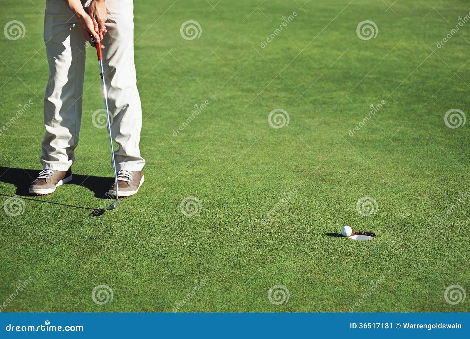 Γκολφ putt πράσινο