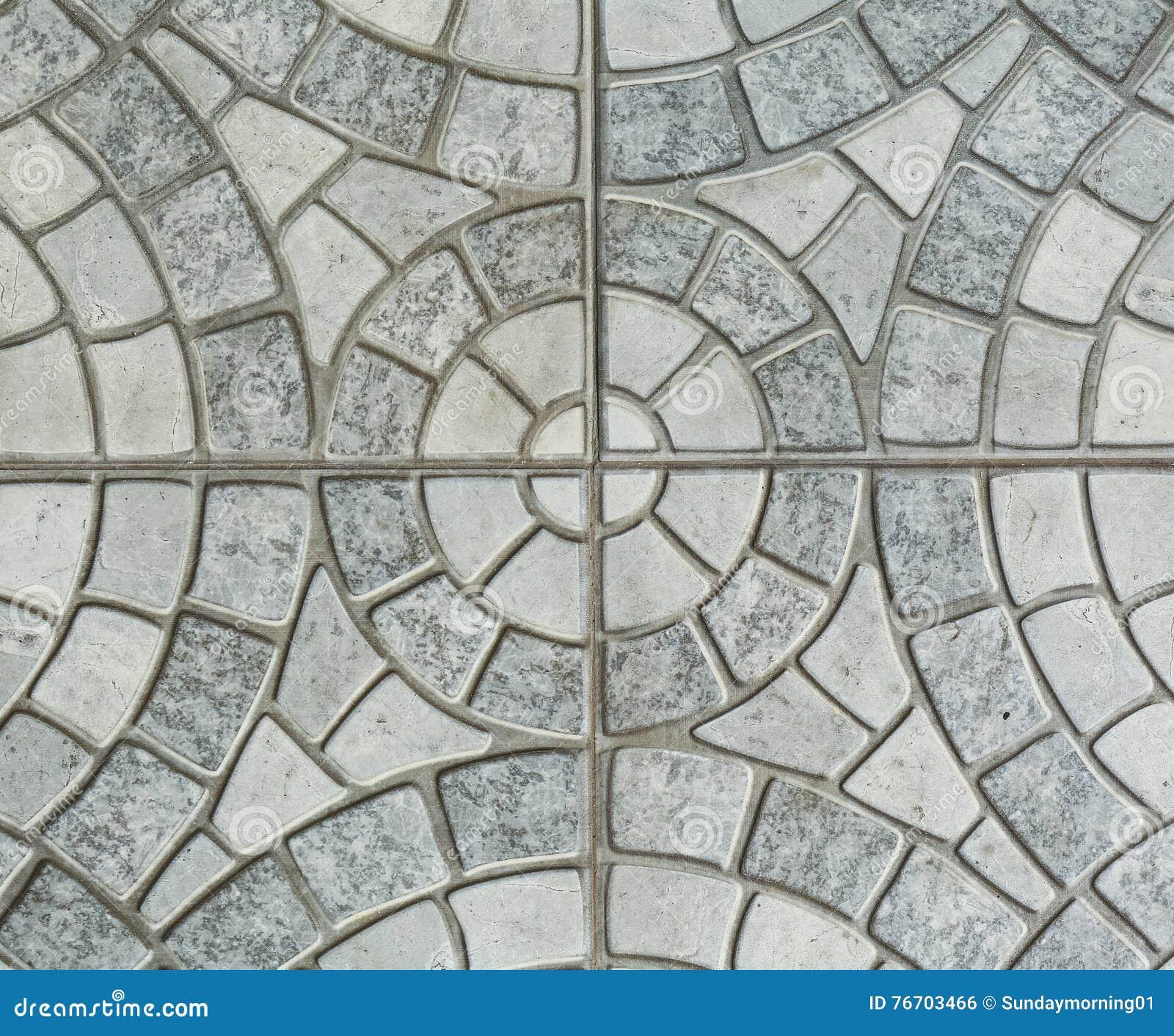 Γκρίζες πλάκες επίστρωσης - σχέδιο του κύκλου