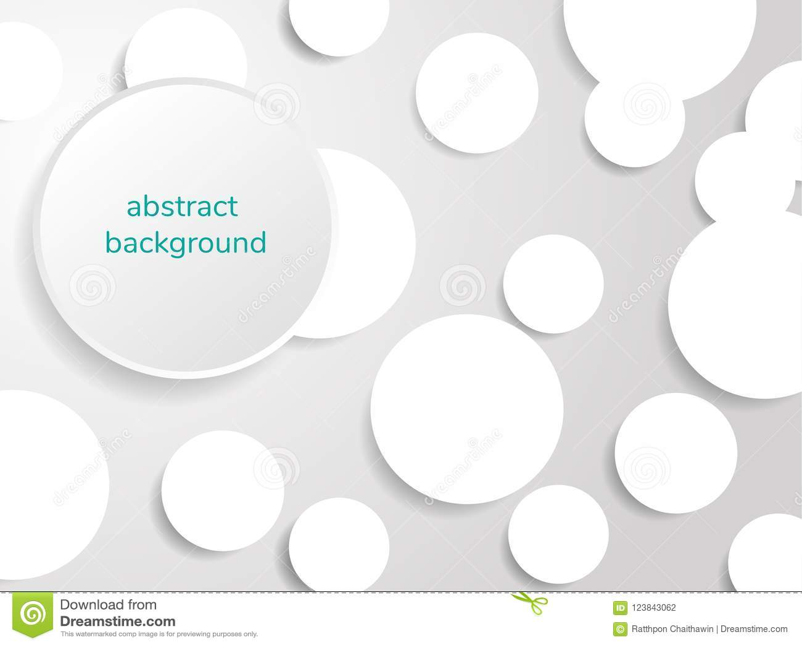 Γκρίζος και άσπρος του αφηρημένου υποβάθρου κύκλων εγγράφου, απεικόνιση