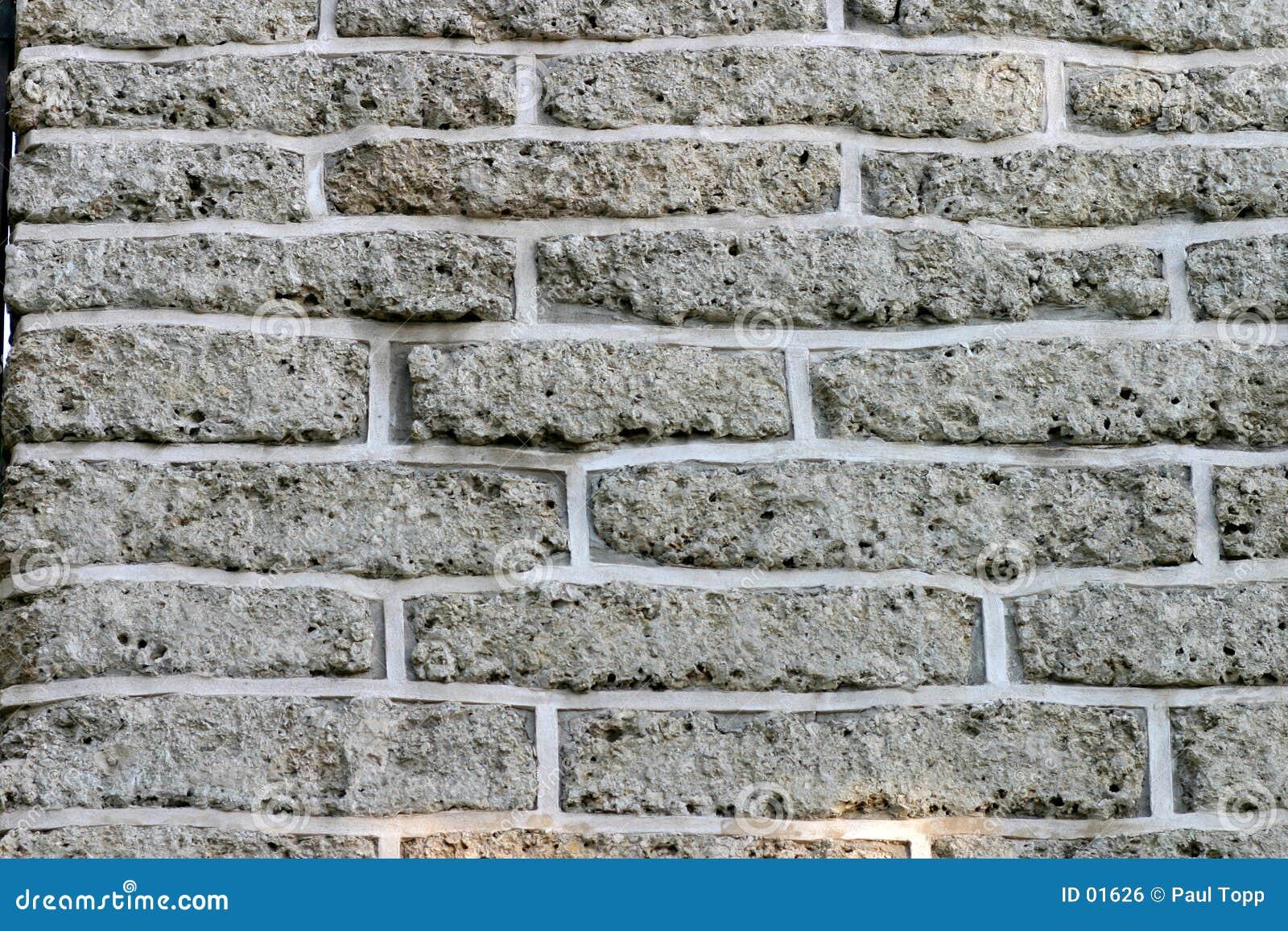 γκρίζος τοίχος τούβλων τ&o