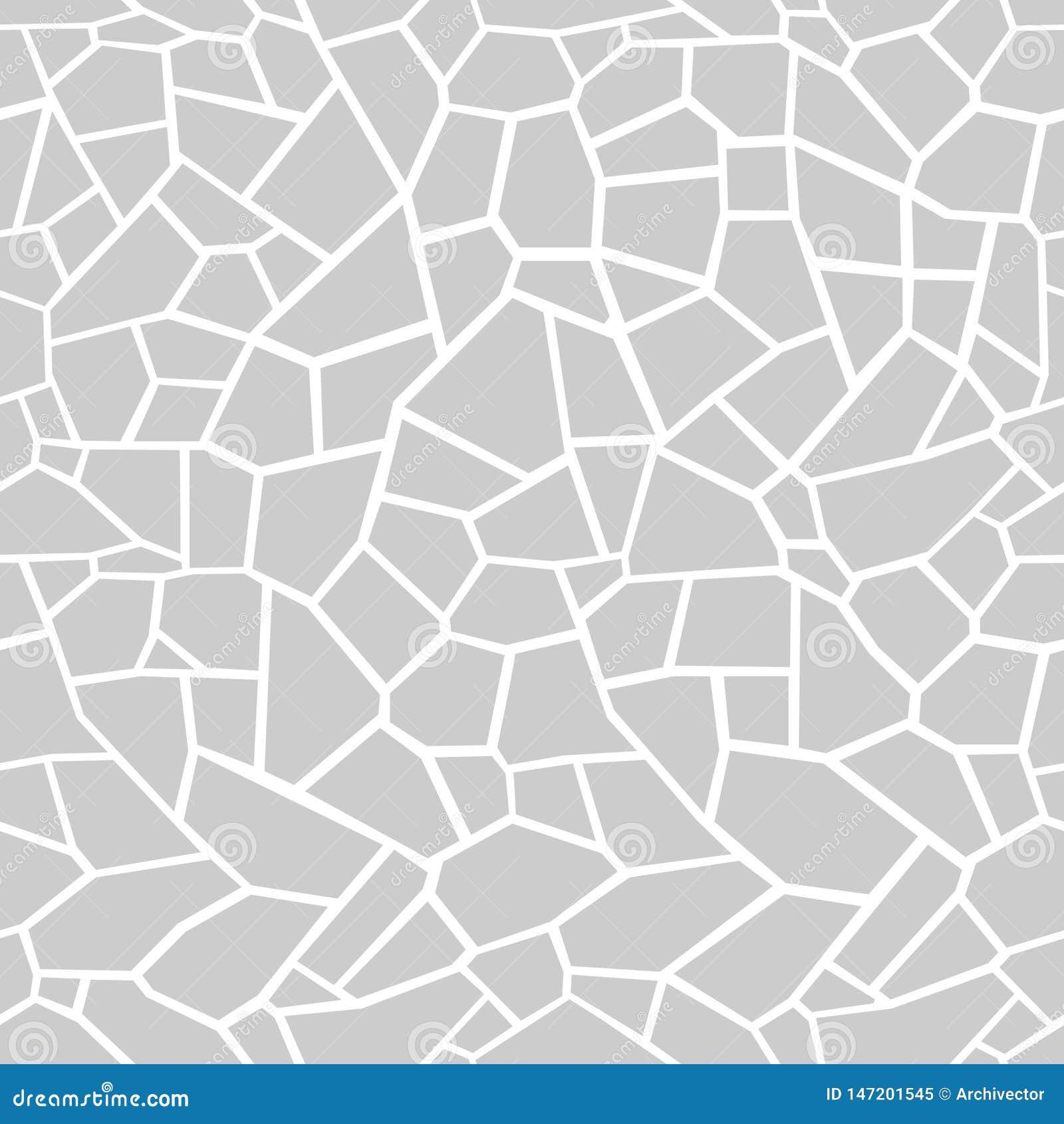 Γκρίζο υπόβαθρο πετρών Άνευ ραφής tracery μωσαϊκών