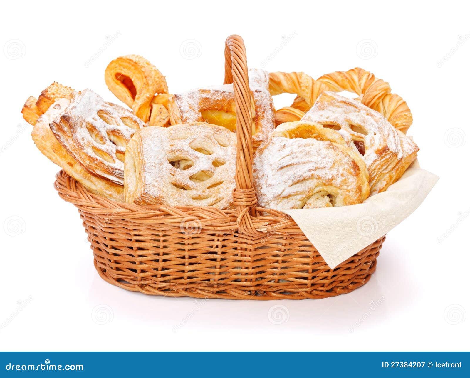 Γλυκά κέικ στο καλάθι