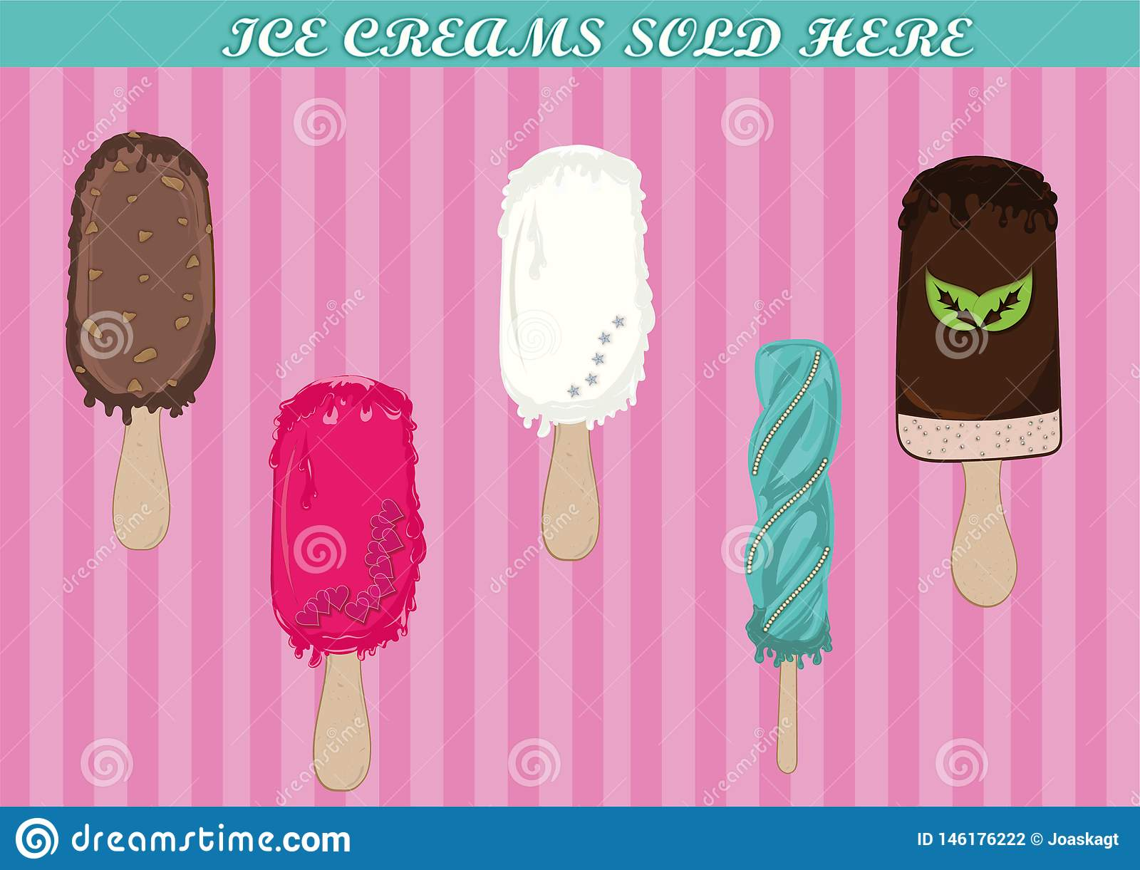 Γλυκά παγωτά με την τήξη