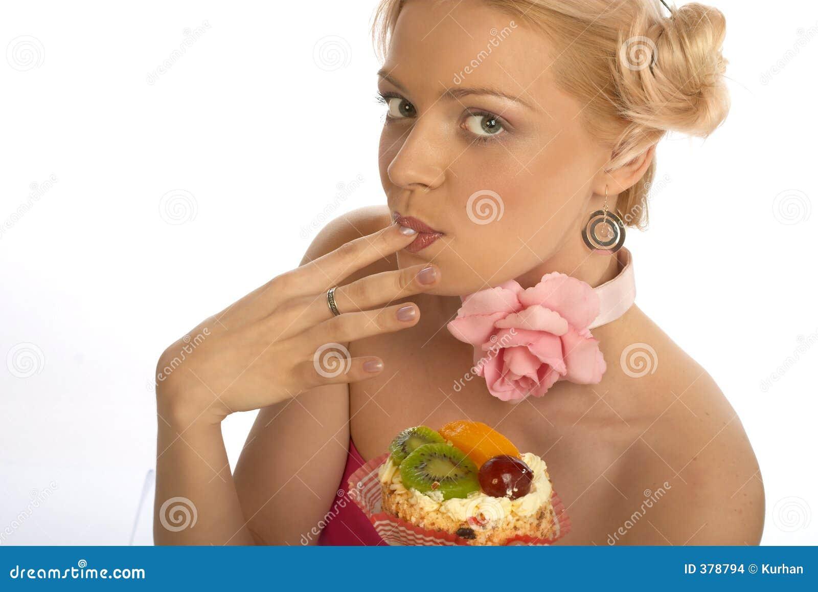 γλυκιά γυναίκα δοντιών
