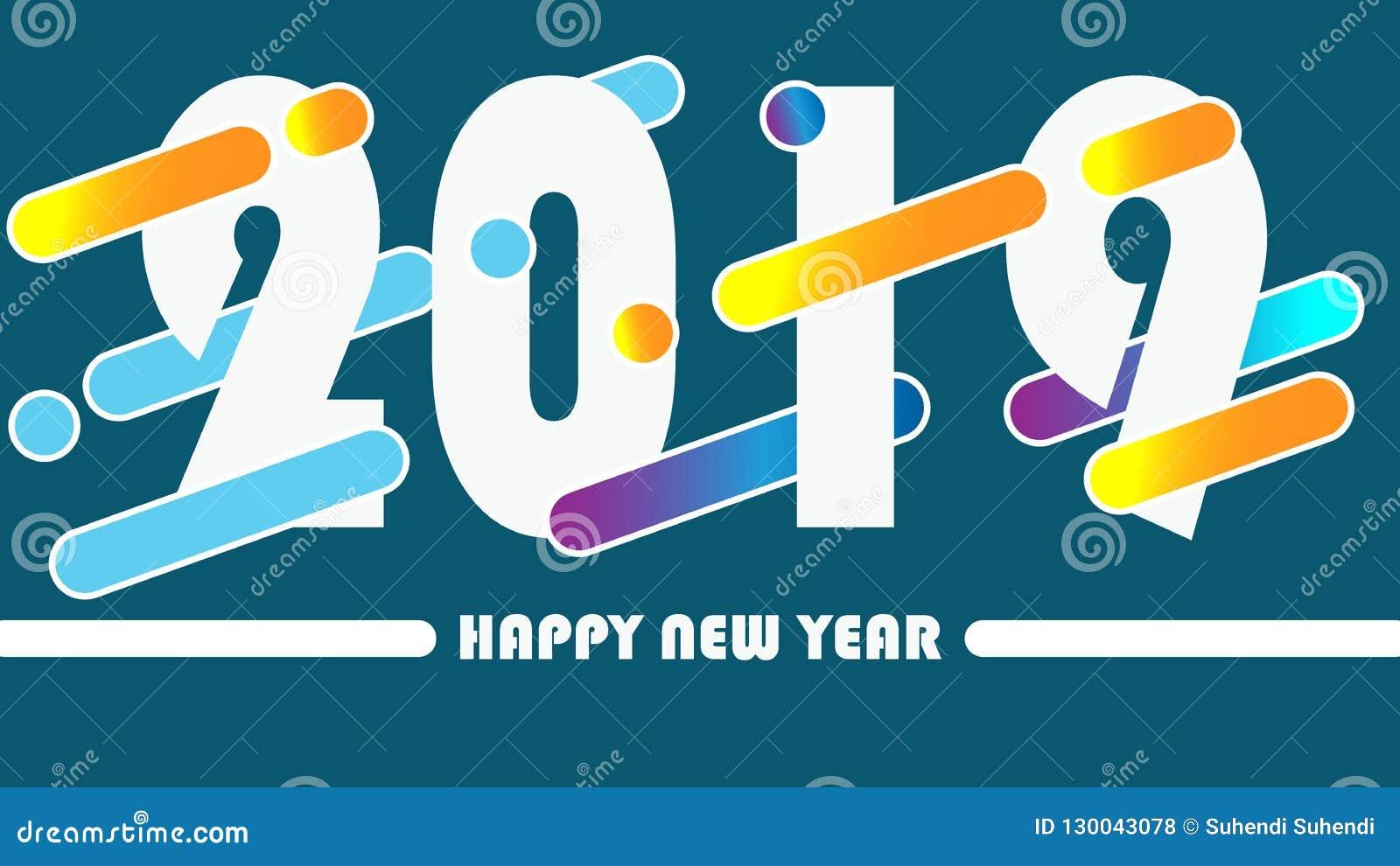 Γλυκό διάνυσμα καλής χρονιάς 2019