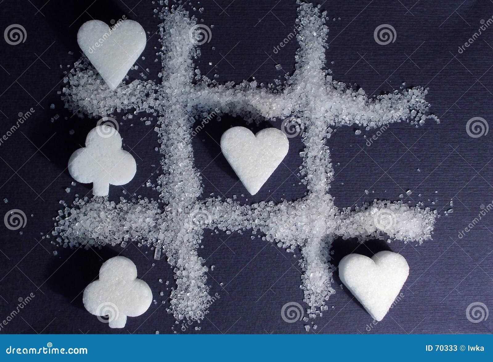 γλυκό δύο ζάχαρης παιχνιδιού