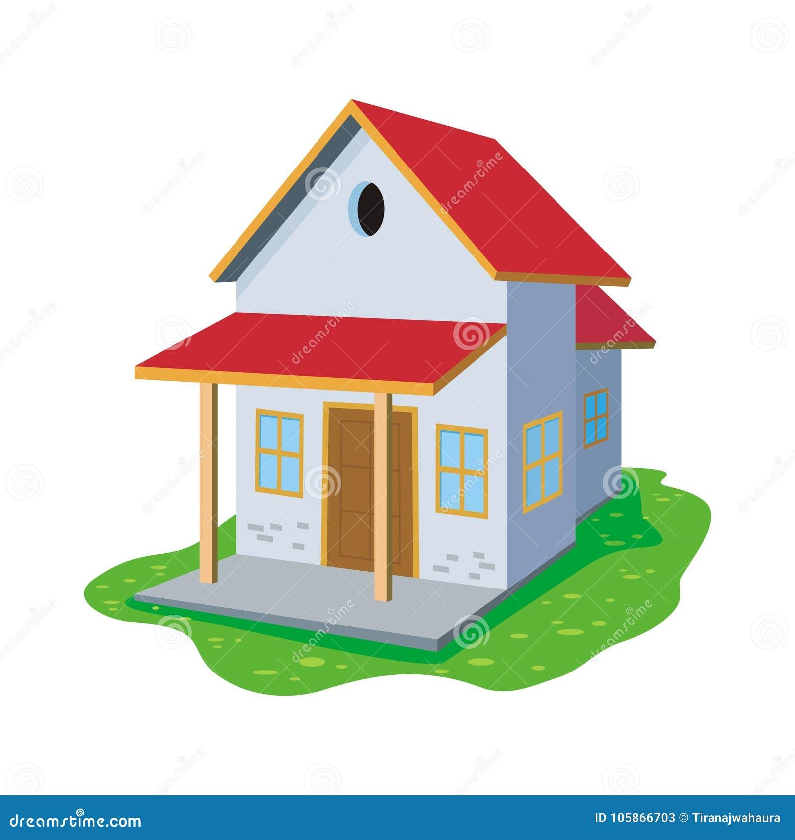 Γλυκό σπίτι κινούμενων σχεδίων, χαριτωμένο και νέο σχέδιο