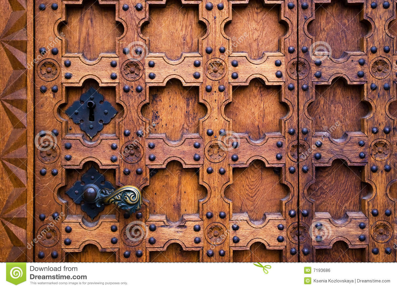 γοτθικός παλαιός πορτών