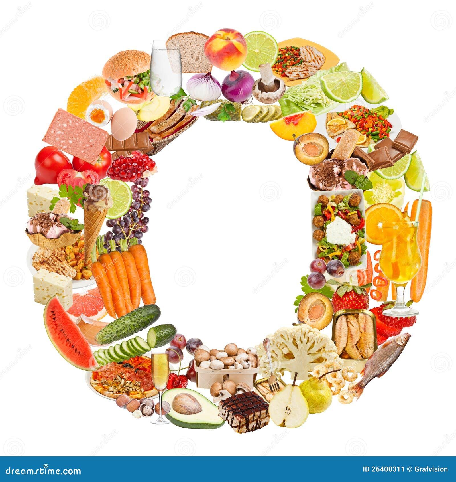 Γράμμα Ο φιαγμένο από τρόφιμα