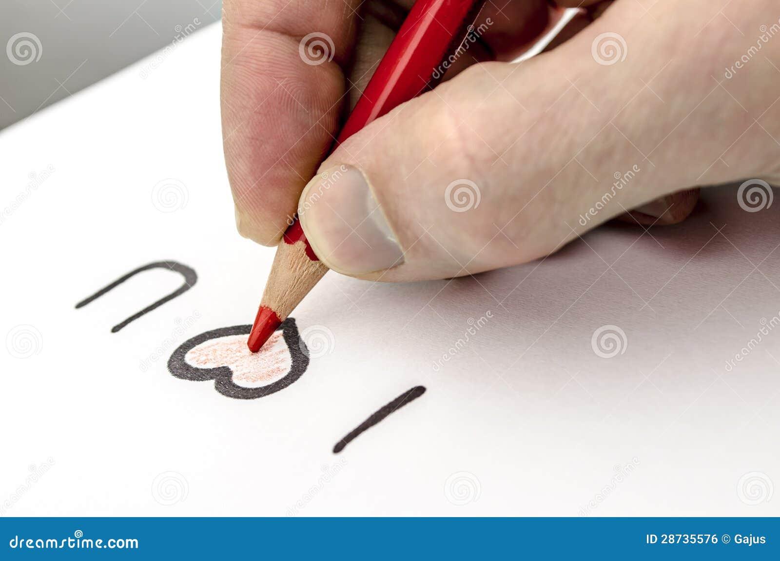 Γράψιμο ενός μηνύματος αγάπης