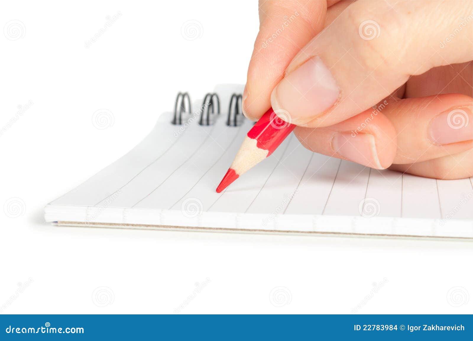 γράψιμο μολυβιών σημειωμ&a
