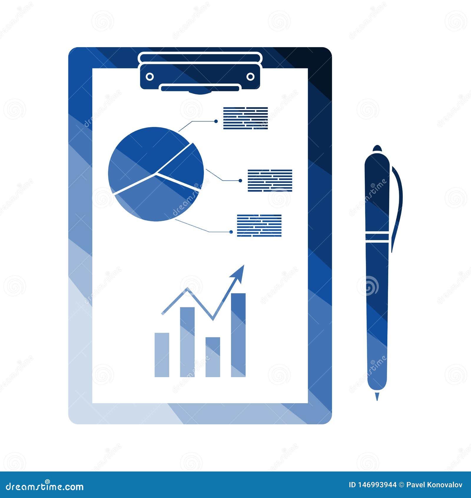 Γράψιμο της ταμπλέτας με το διάγραμμα Analytics και το εικονίδιο μανδρών
