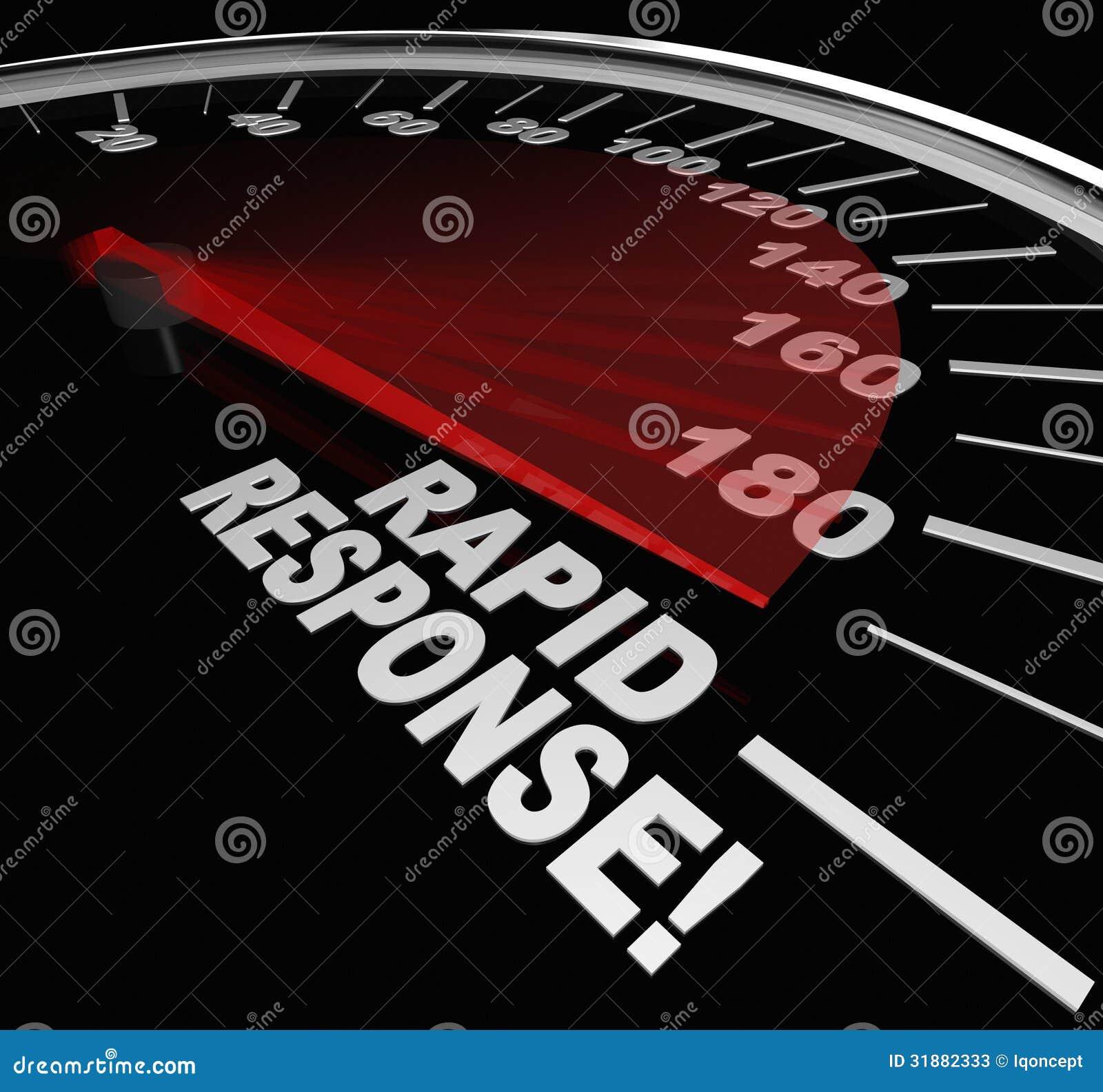 Γρήγορη υπηρεσία κρίσης έκτακτης ανάγκης ταχυμέτρων απάντησης