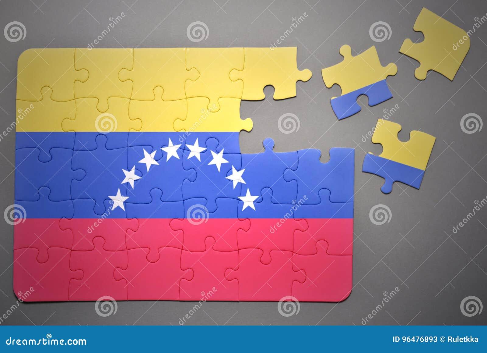 Γρίφος με τη εθνική σημαία της Βενεζουέλας