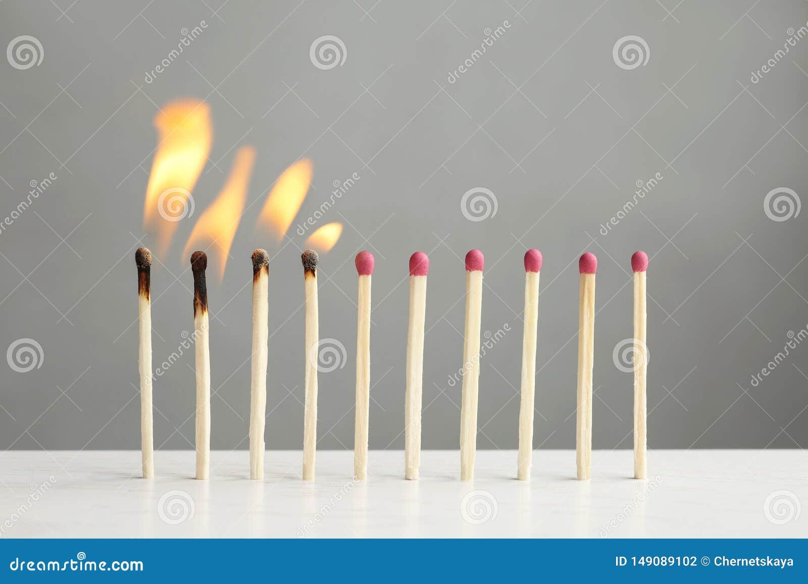 Γραμμή καψίματος και ολόκληρων των αντιστοιχιών στον πίνακα