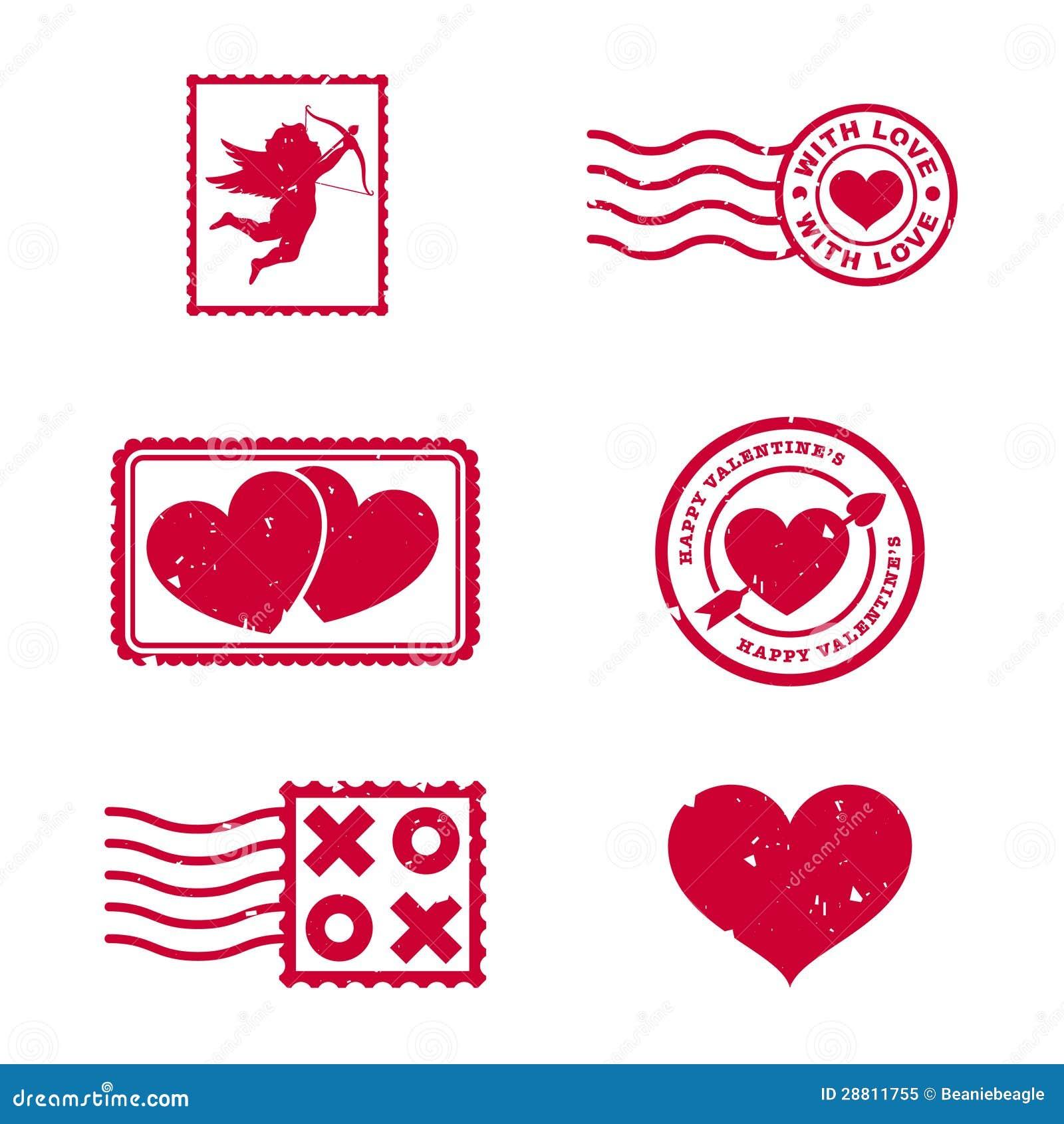 Γραμματόσημα ημέρας βαλεντίνων