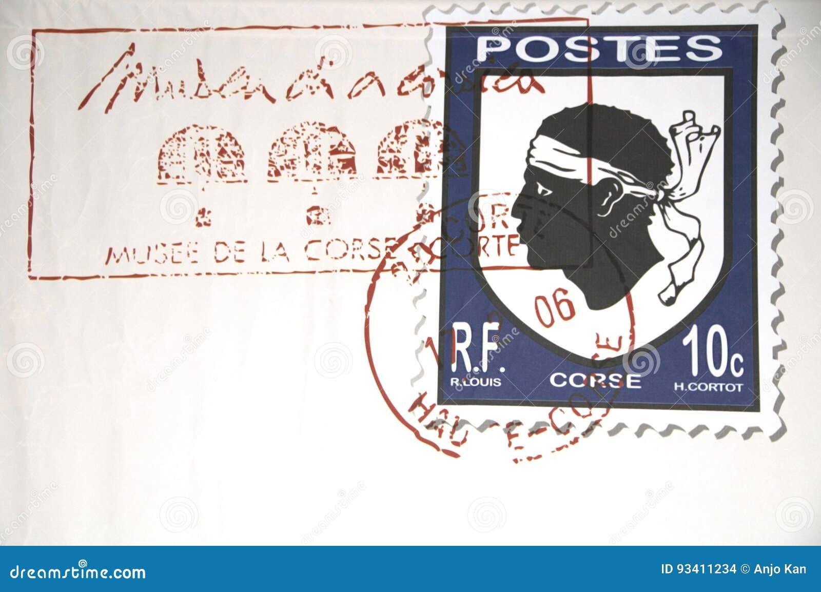 Γραμματόσημο σε μια επιστολή