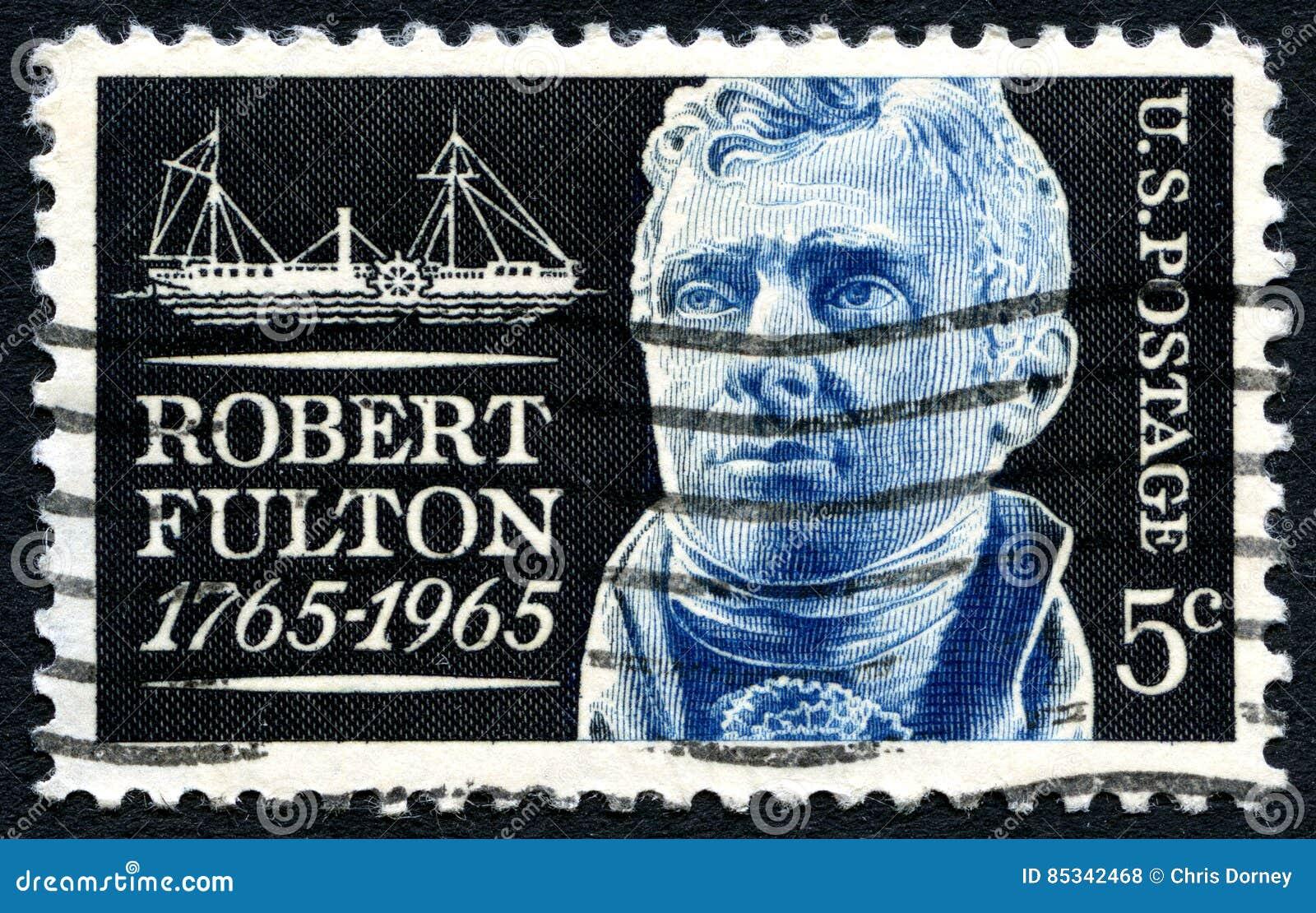 Γραμματόσημο του Robert Fulton ΗΠΑ
