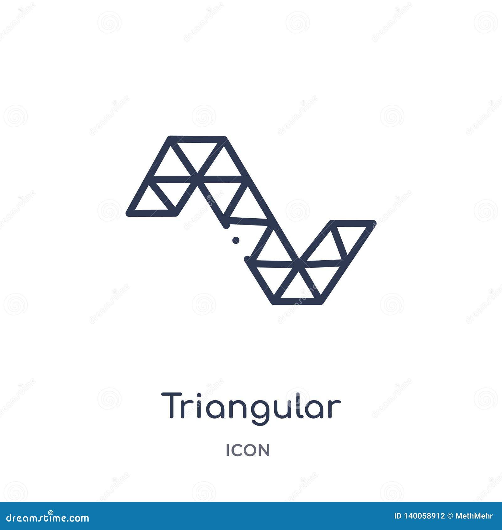 Γραμμικές τριγωνικές μορφές που διαμορφώνουν το εικονίδιο κυμάτων από τη συλλογή περιλήψεων γεωμετρίας Λεπτές τριγωνικές μορφές γ