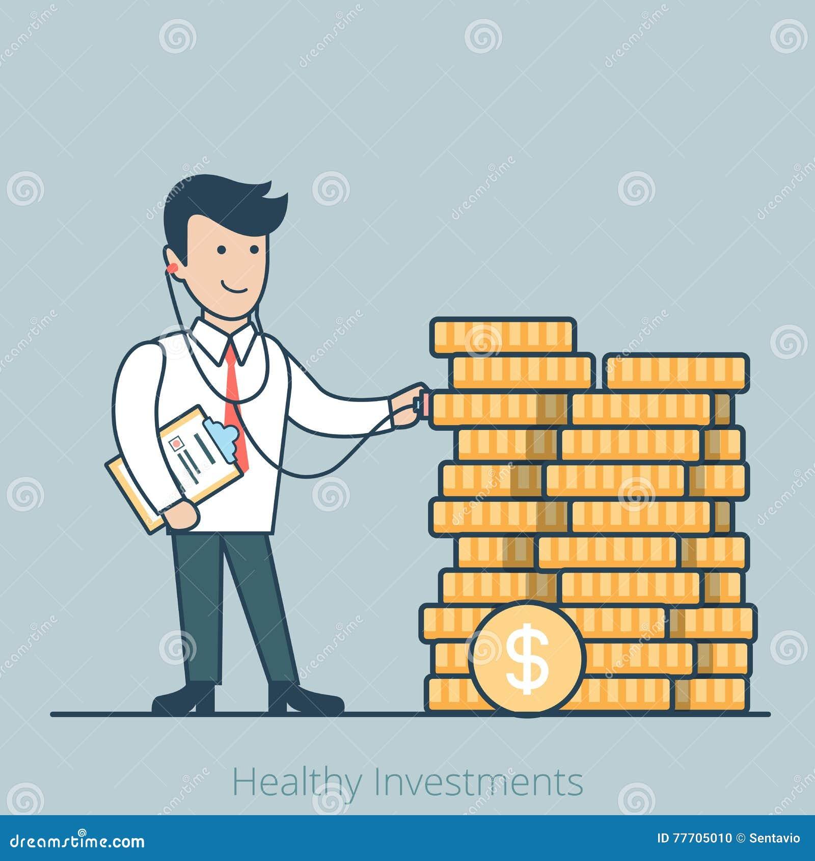 Γραμμικός επίπεδος υγιής επιχειρησιακός άνδρας επενδύσεων steth