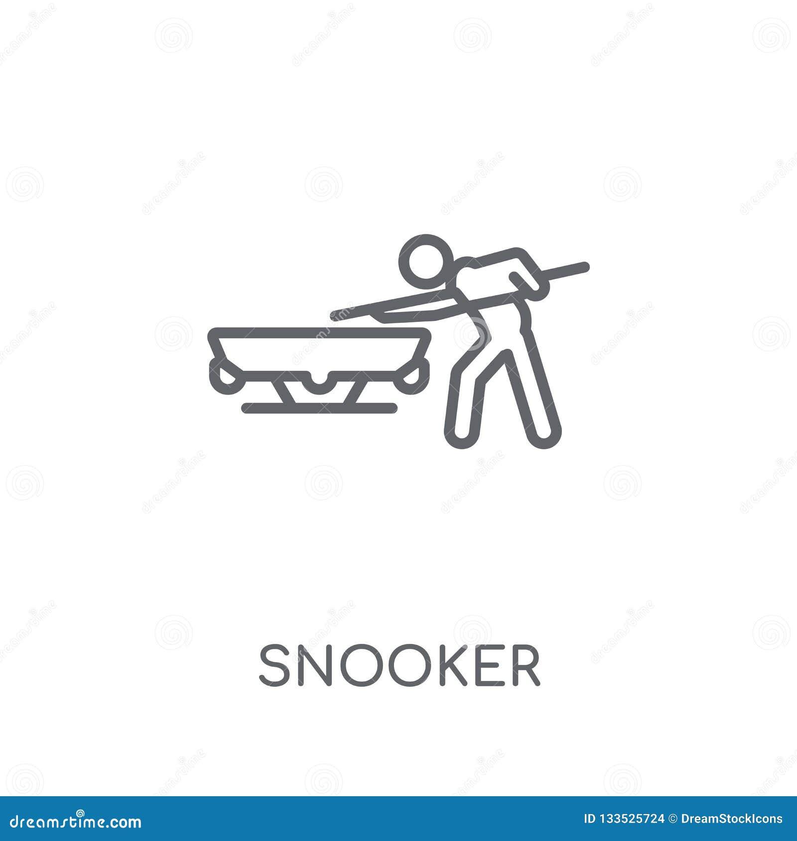 Γραμμικό εικονίδιο σνούκερ Σύγχρονη έννοια λογότυπων σνούκερ περιλήψεων στο μόριο