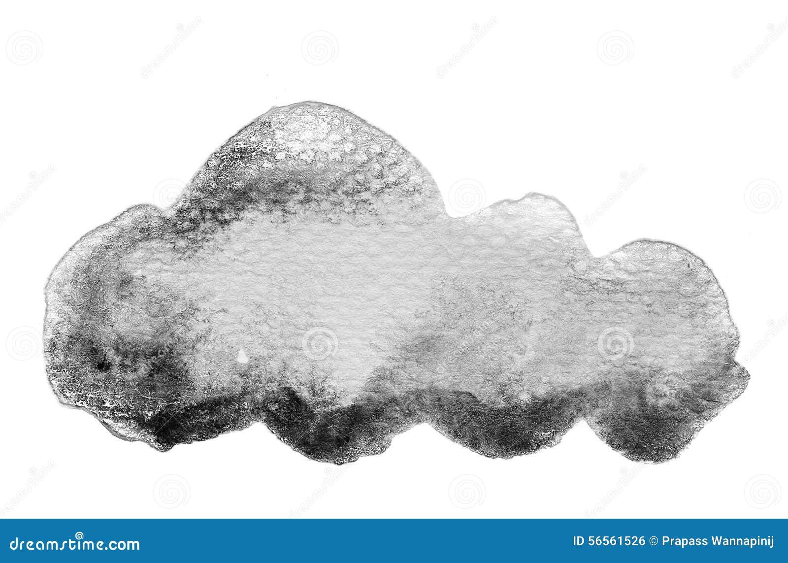 Download Γραπτό υπόβαθρο υδατοχρώματος Απεικόνιση αποθεμάτων - εικονογραφία από μαύρα, σύννεφο: 56561526