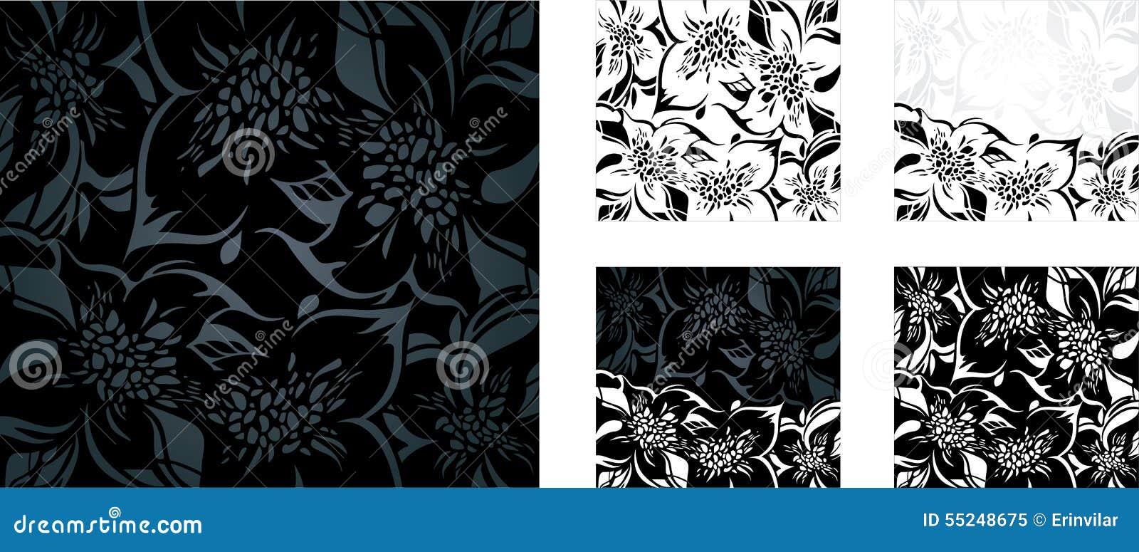 Γραπτό floral σύνολο υποβάθρου διακοπών