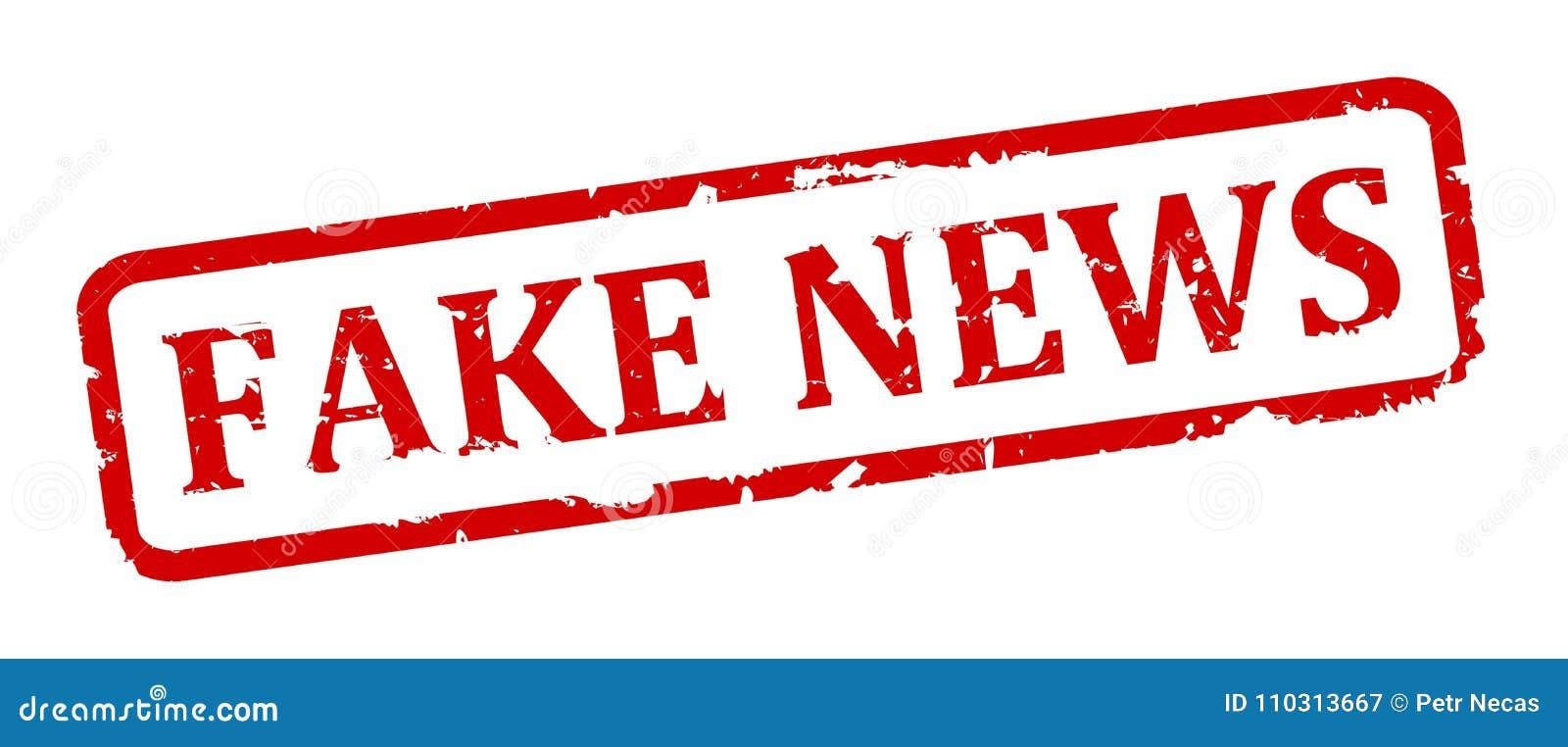 Γρατσουνισμένο ωοειδές γραμματόσημο με την επιγραφή - πλαστές ειδήσεις