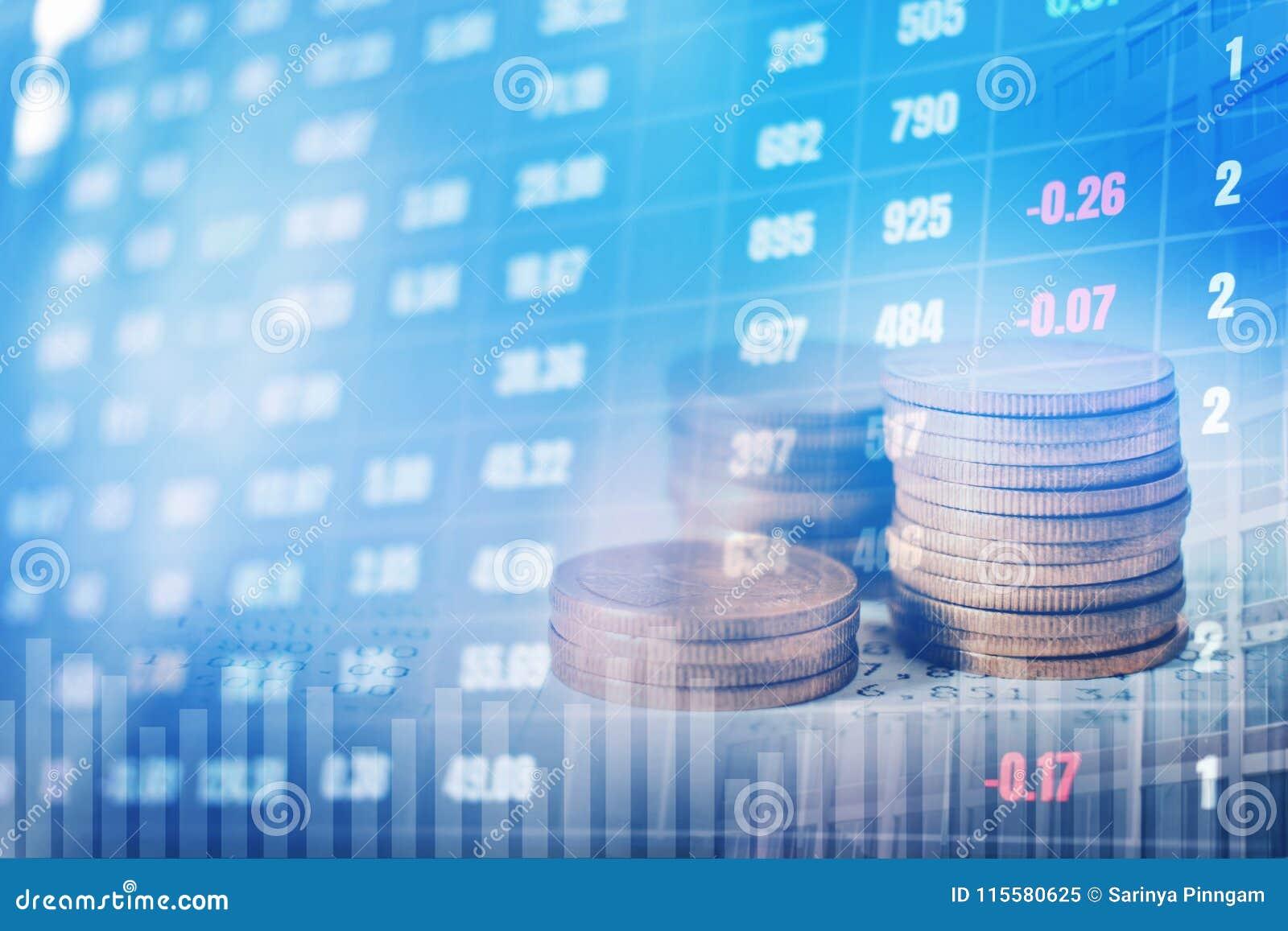 Γραφική παράσταση στις σειρές των νομισμάτων για τη χρηματοδότηση και τις τραπεζικές εργασίες στο ψηφιακό απόθεμα