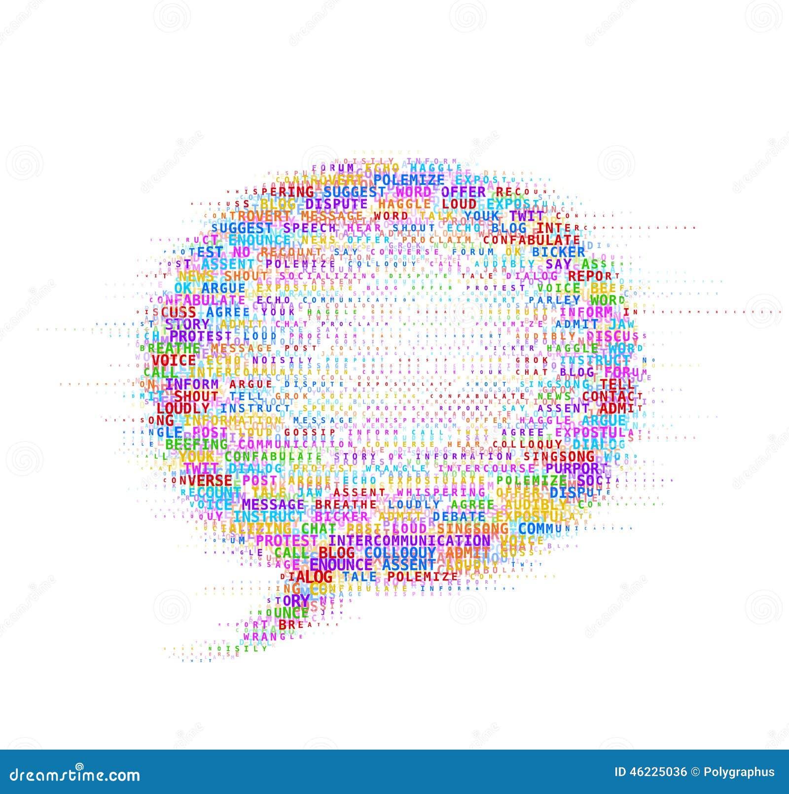 γραφικό διάνυσμα λεκτικής ομιλίας προσώπων φυσαλίδων