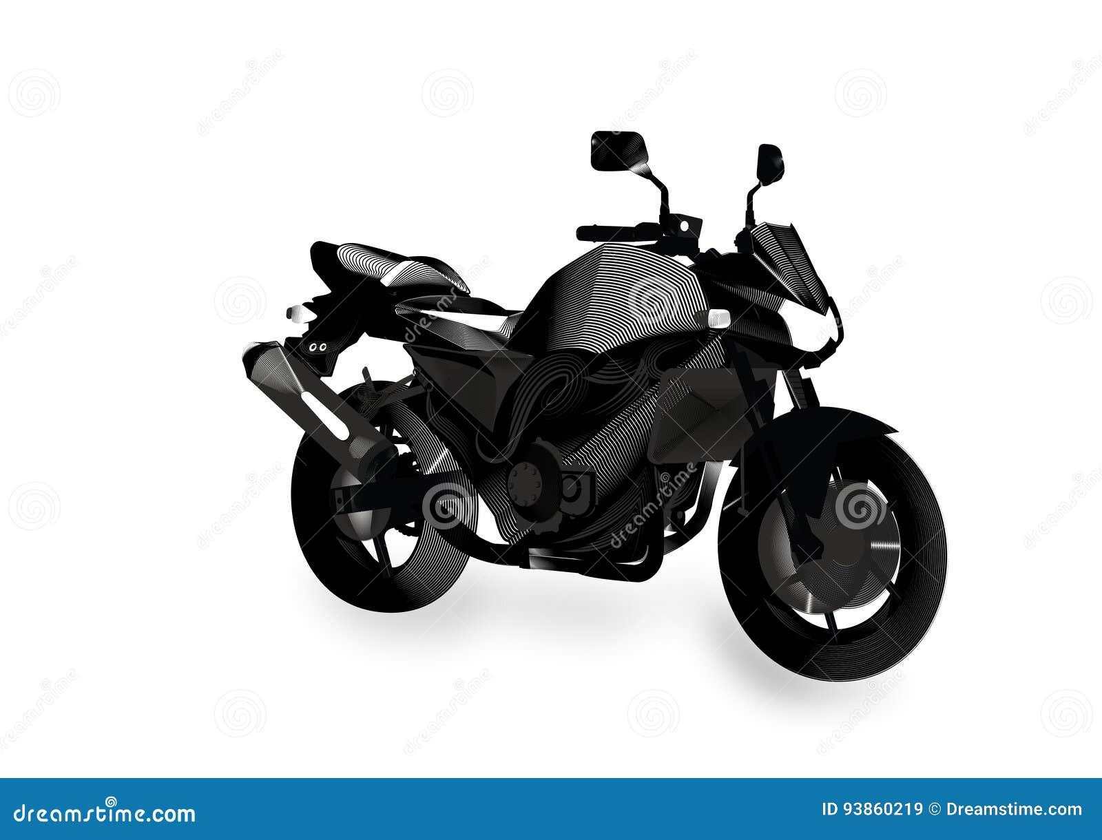 Γυμνή αφηρημένη μοτοσικλέτα