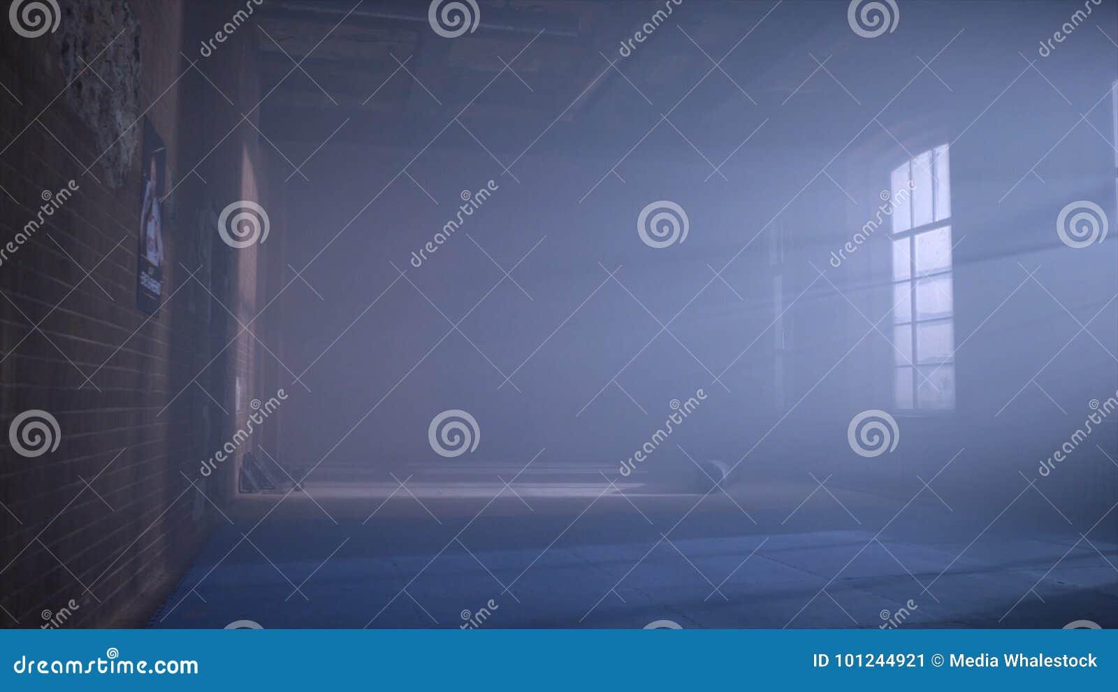 Γυμναστική στο υπόγειο Εσωτερικό μιας εγκιβωτίζοντας αίθουσας στο ύφος σοφιτών Κενό δωμάτιο πάλης Εσωτερικό γυμναστικής Grunge με