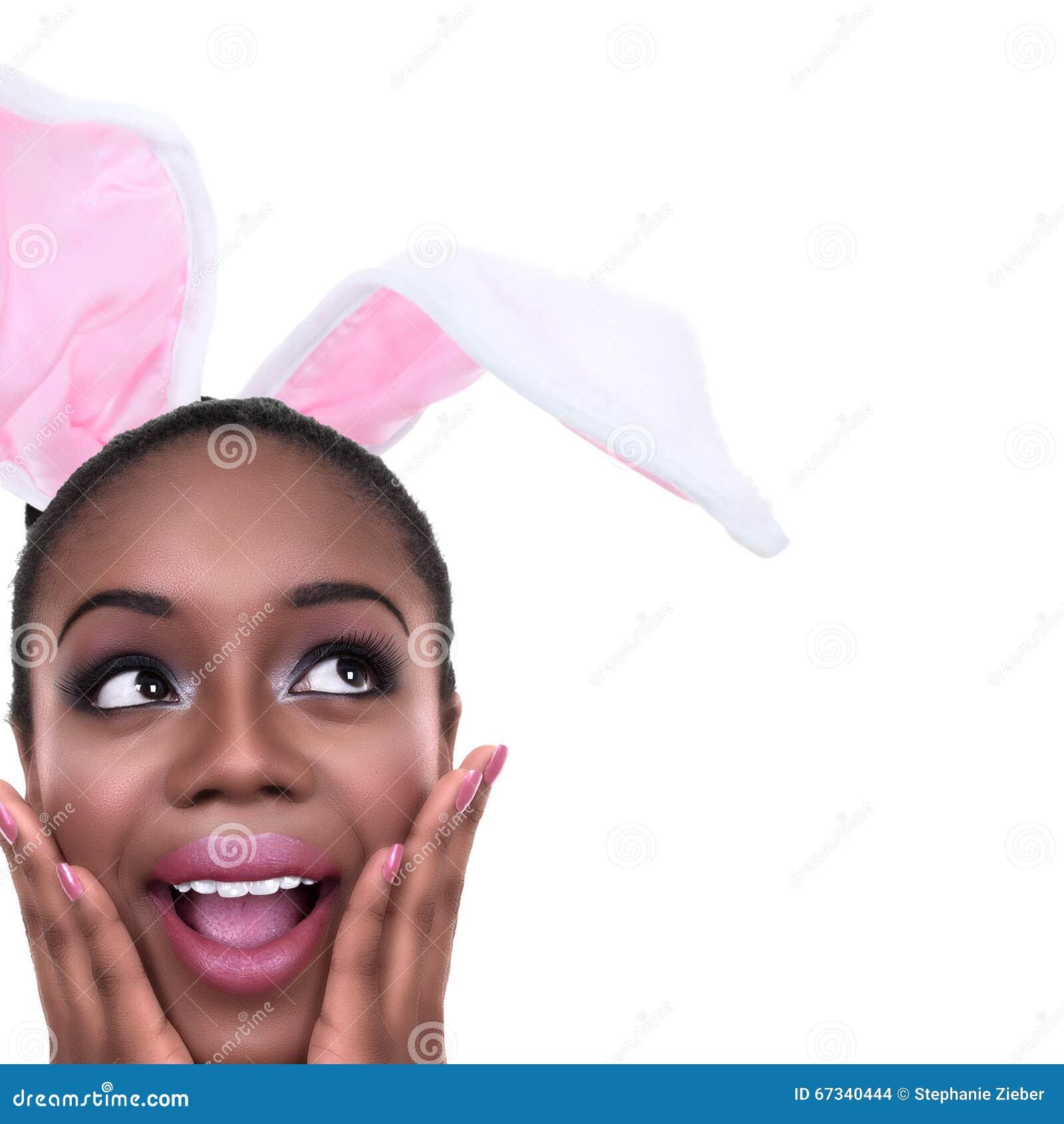 Γυναίκα αυτιών λαγουδάκι Πάσχας